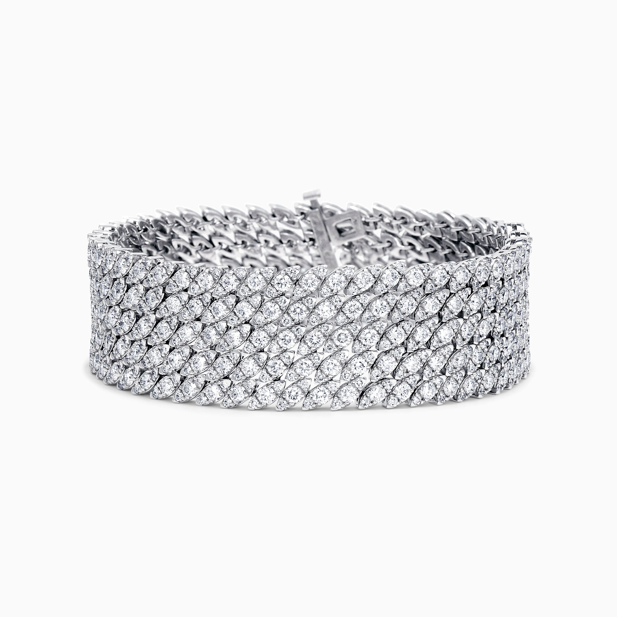Effy Hematian 18K White Gold Wide Diamond Bracelet, 18.10 TCW