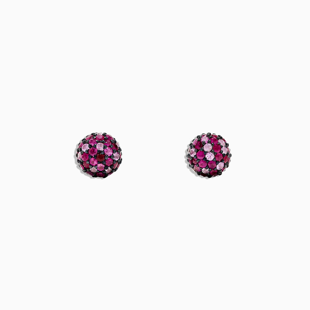 Effy 925 Sterling Silver Pink Sapphire Splash Stud Earrings, 2.45 TCW