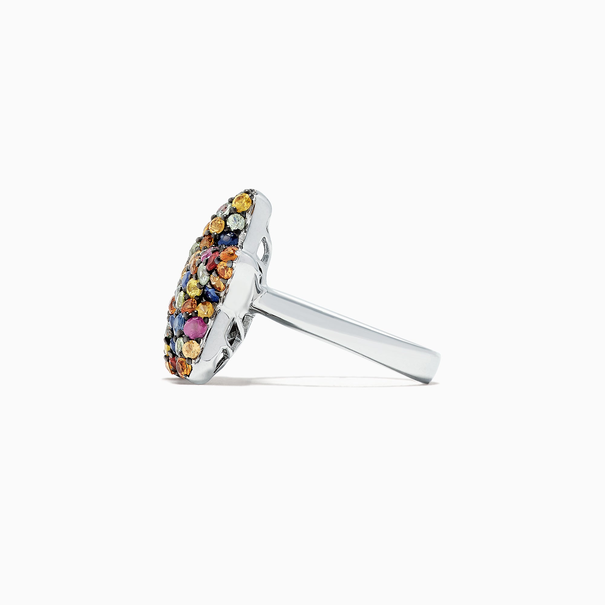 Effy 925 Sterling Silver Multi Sapphire Splash Starfish Ring, 2.90 TCW