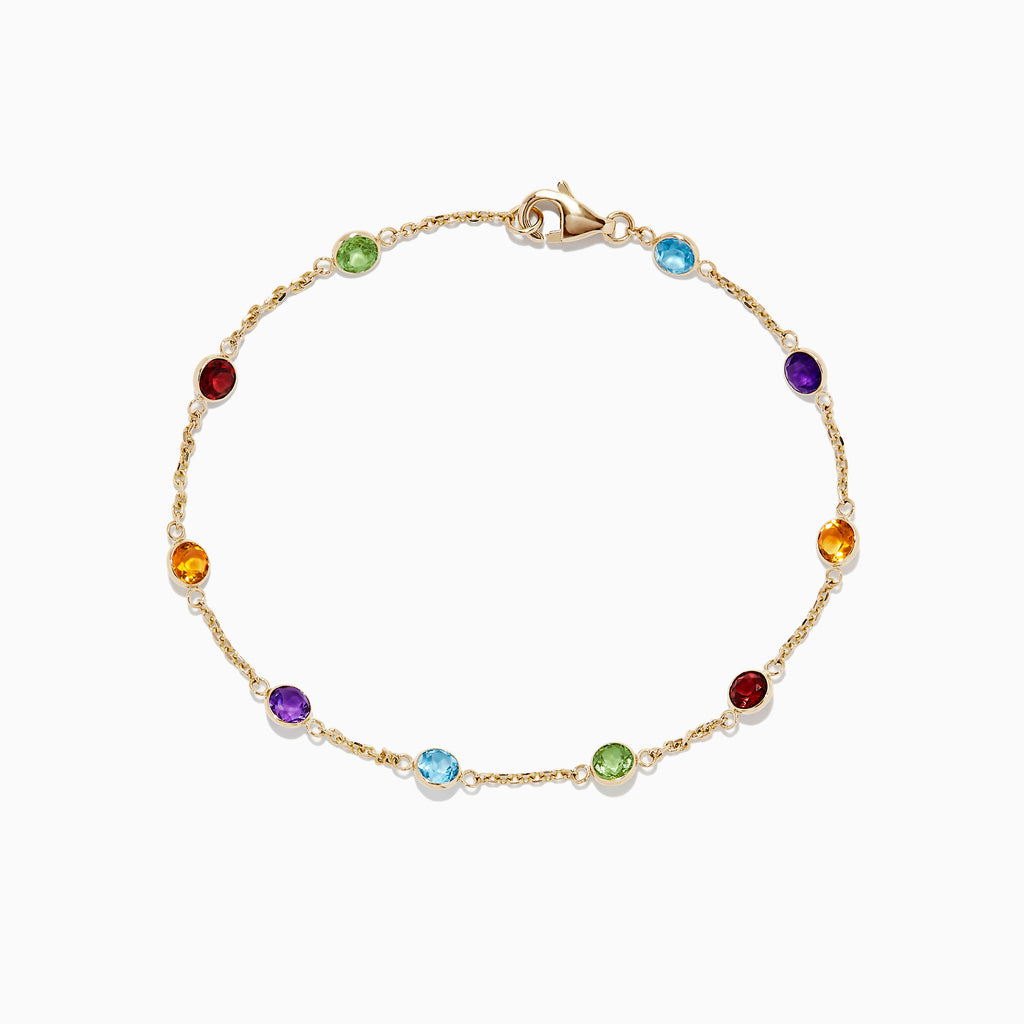 Effy Mosaic 14K Yellow Gold Multi Gemstone Bracelet, 2.47 TCW
