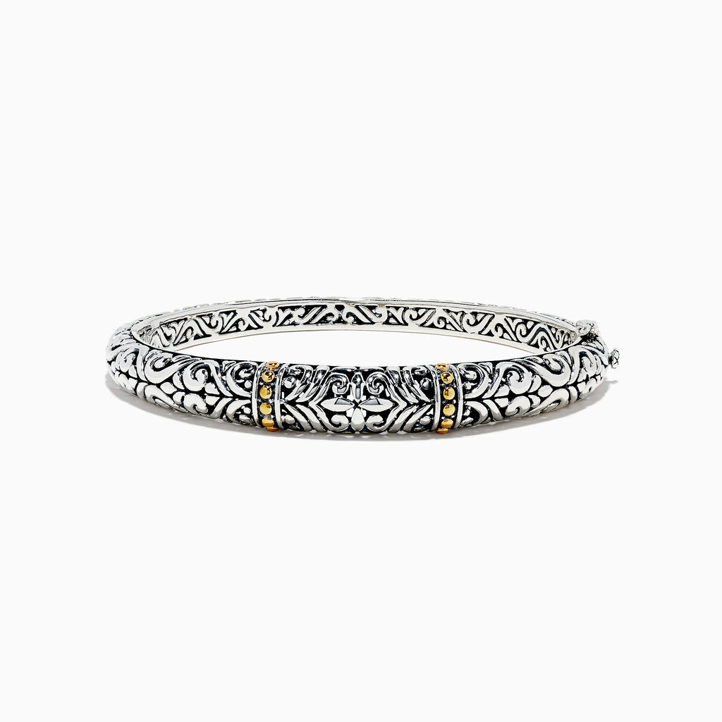 Effy 925 Sterling Silver and 18K Gold Bangle