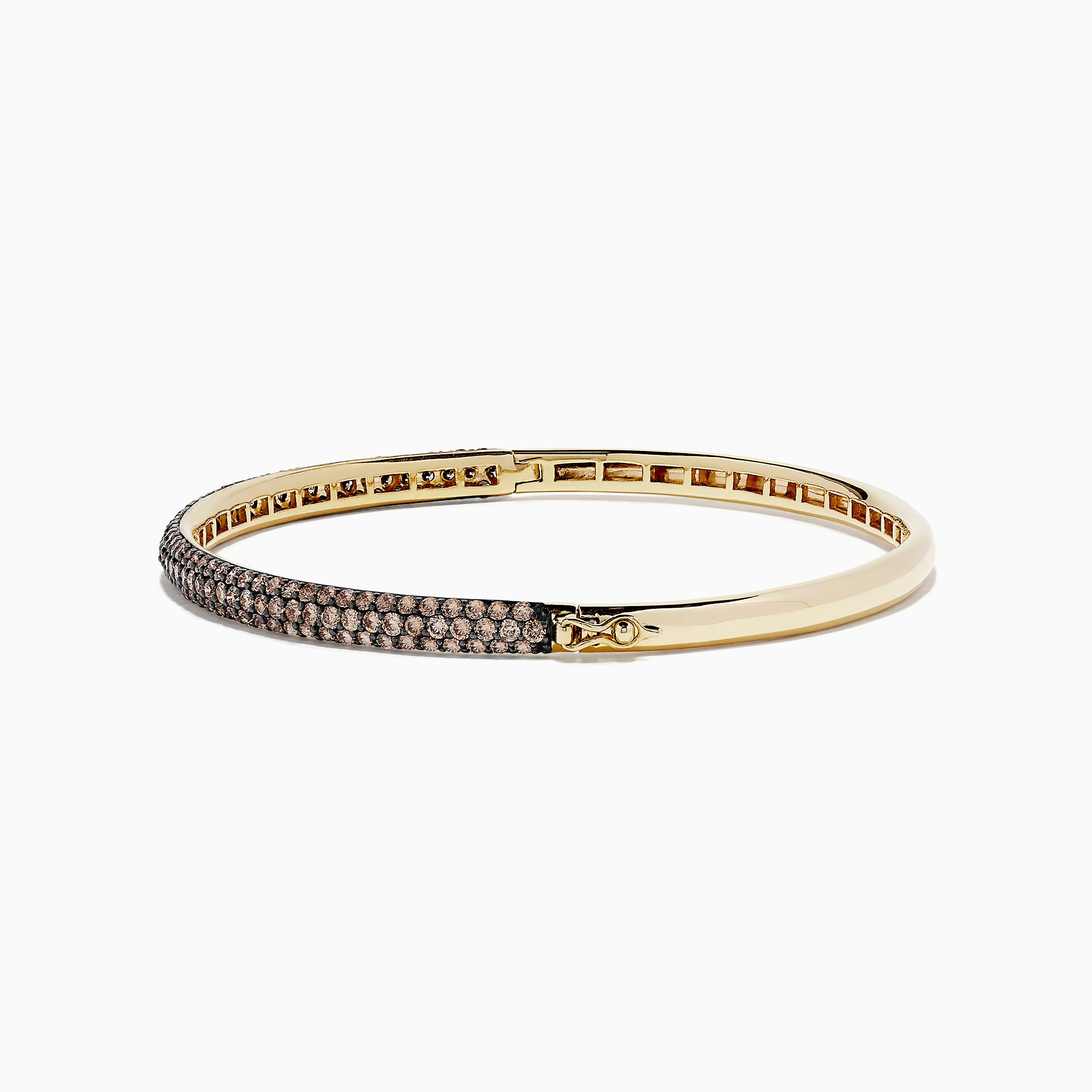 Effy 14K Yellow Gold Espresso Diamond Pave Bangle, 3.12 TCW