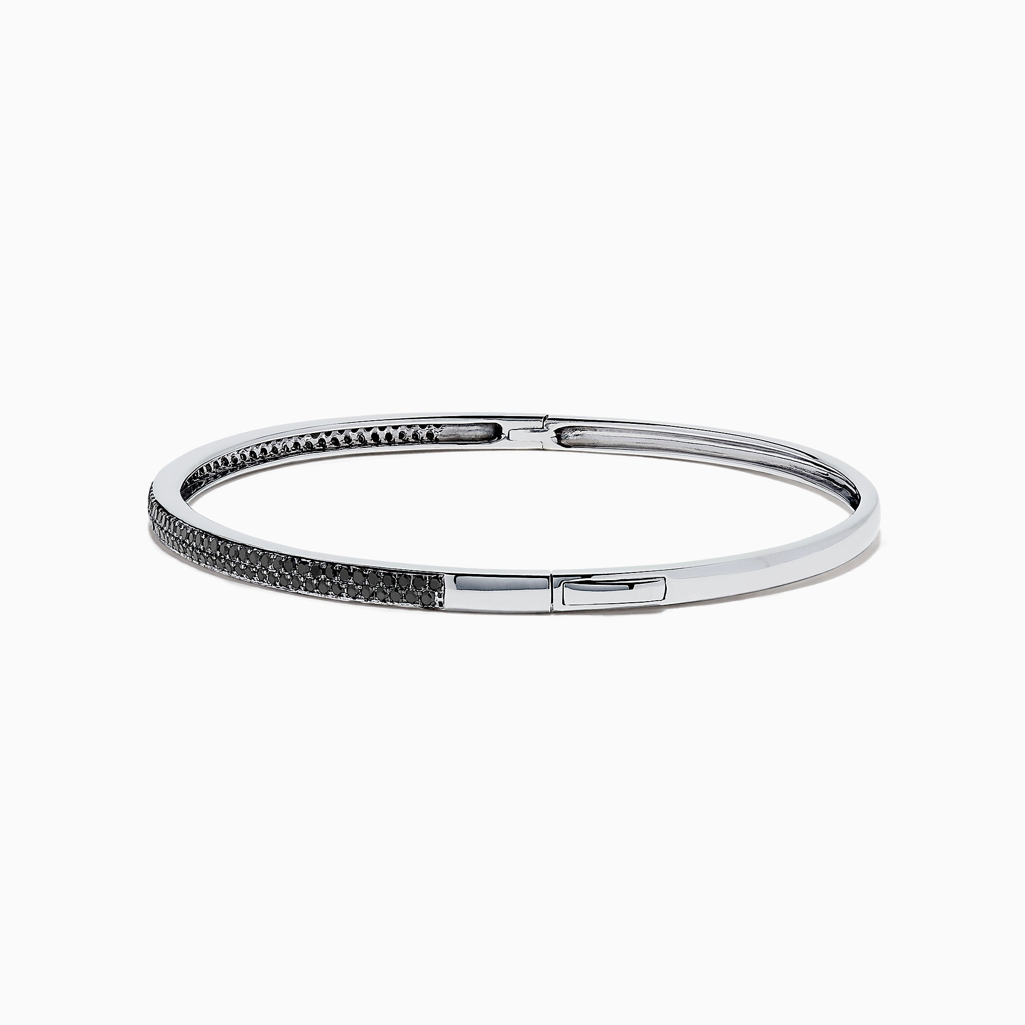 Effy 14K White Gold Black Diamond Pave Bangle, 0.82 TCW