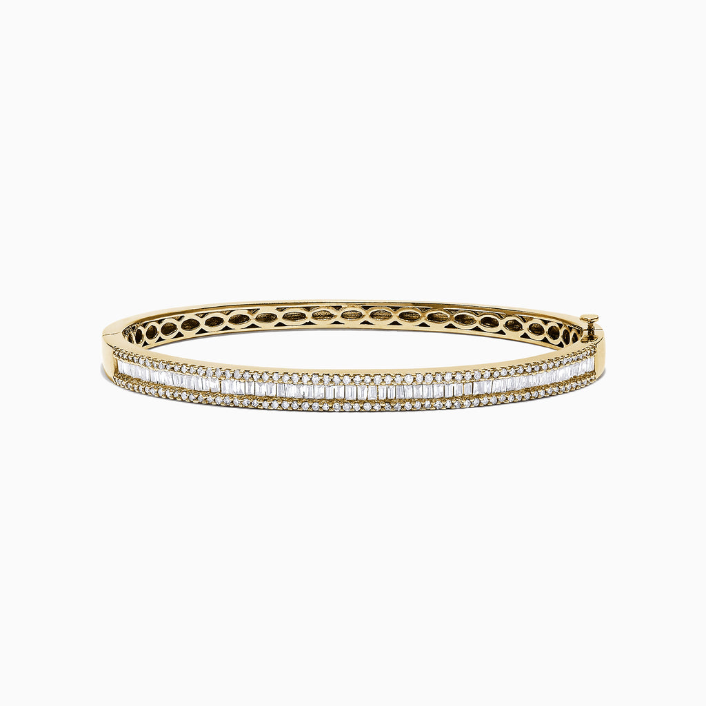 Effy D'Oro 14K Yellow Gold Diamond Bangle, 1.81 TCW
