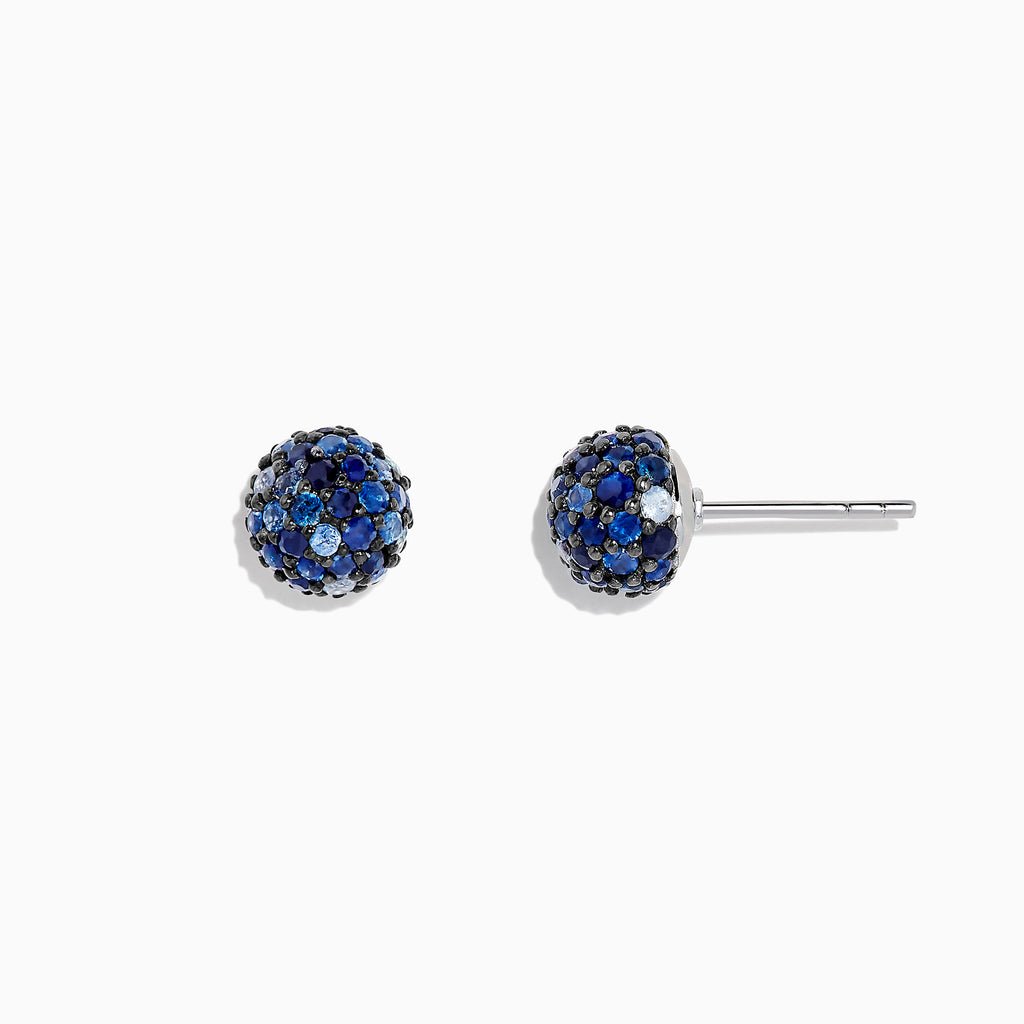 Effy 925 Sterling Silver Blue Sapphire Splash Stud Earrings, 2.26 TCW