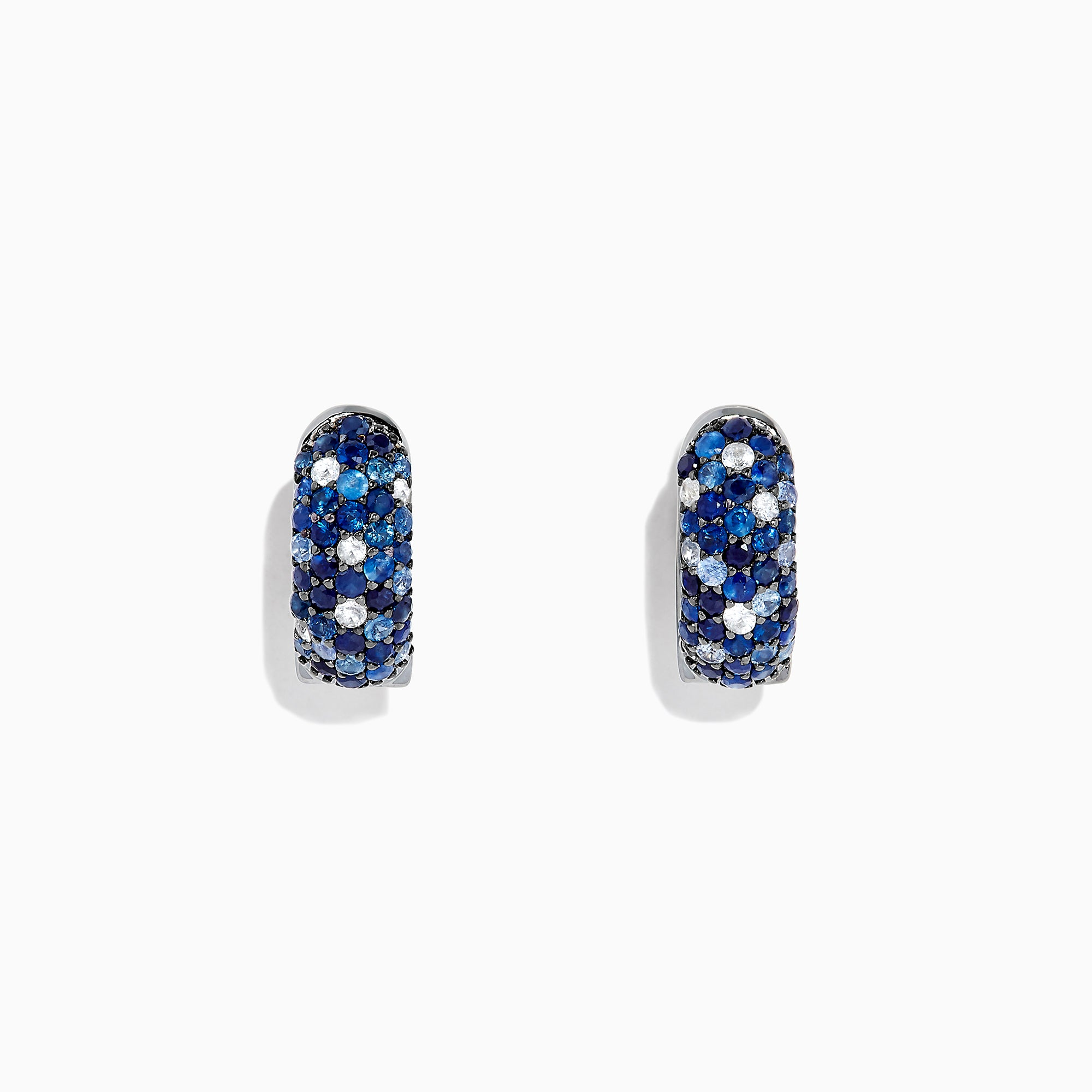 Effy 925 Sterling Silver Blue and White Sapphire Splash Earrings, 2.24 TCW