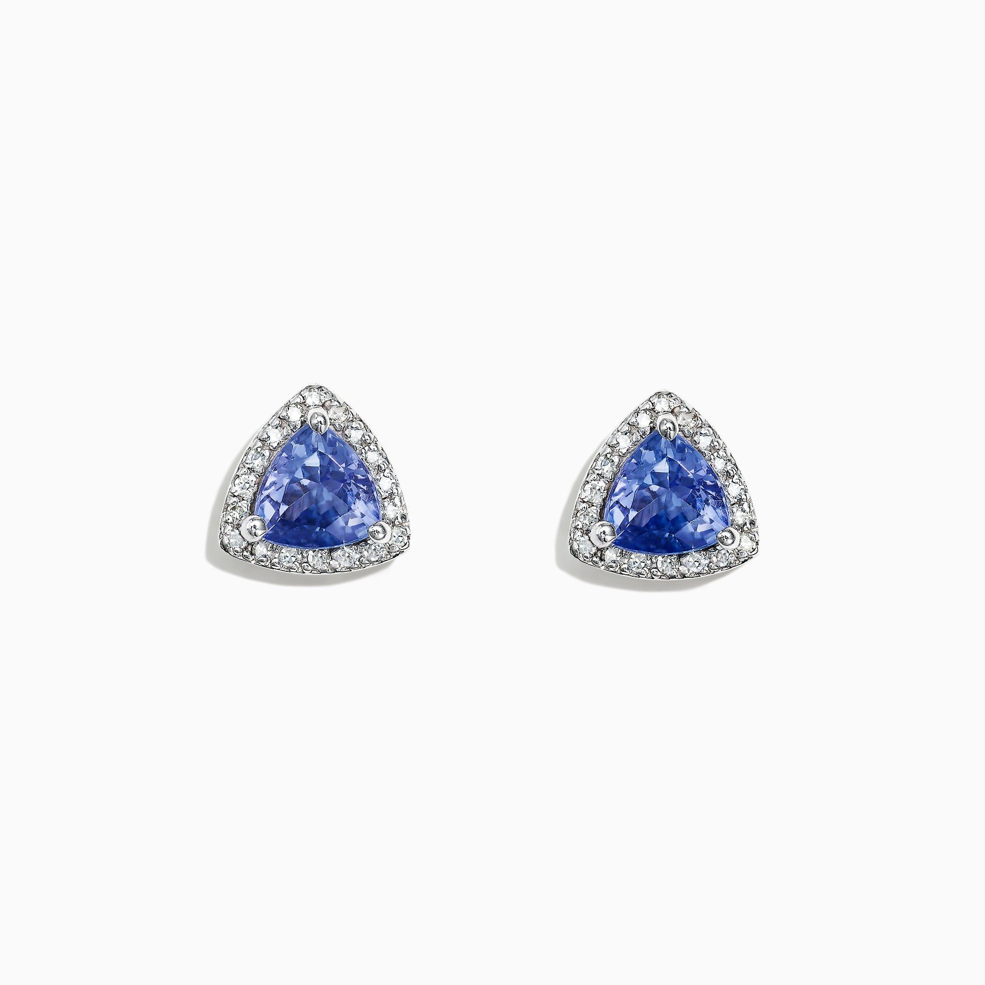 Effy 14K White Gold Tanzanite and Diamond Stud Earrings, 1.19 TCW