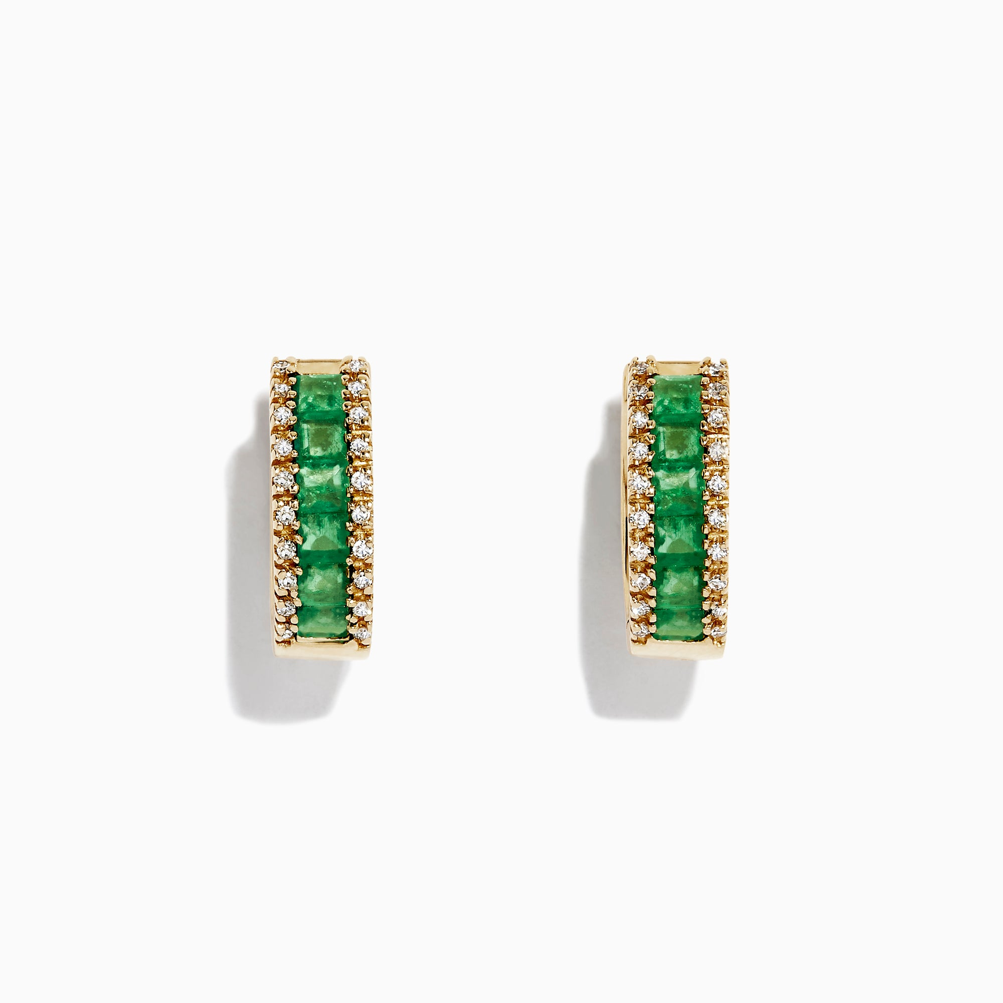Effy Brasilica 14K Yellow Gold Emerald and Diamond Earrings, 1.53 TCW