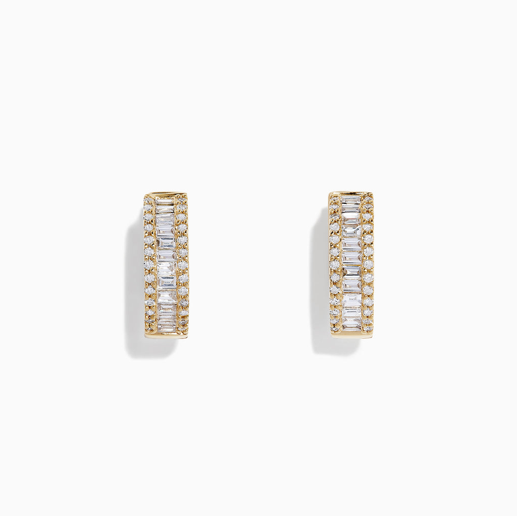 Effy D'Oro 14K Yellow Gold Diamond Earrings, 0.76 TCW