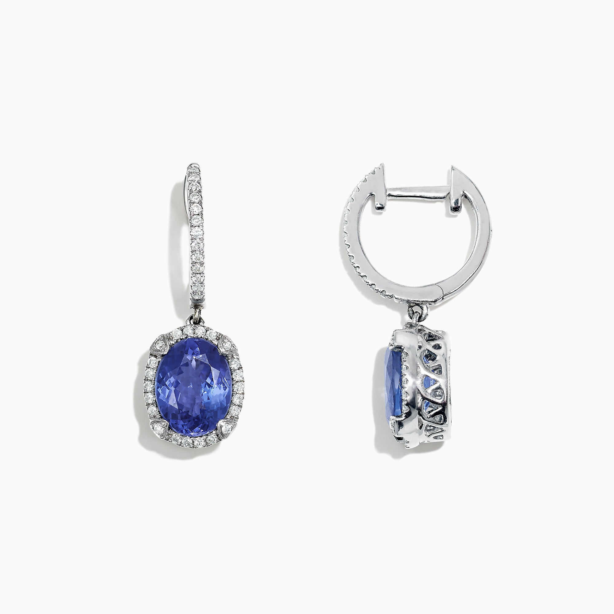 Effy Gemma 14K White Gold Tanzanite and Diamond Earrings, 4.14 TCW
