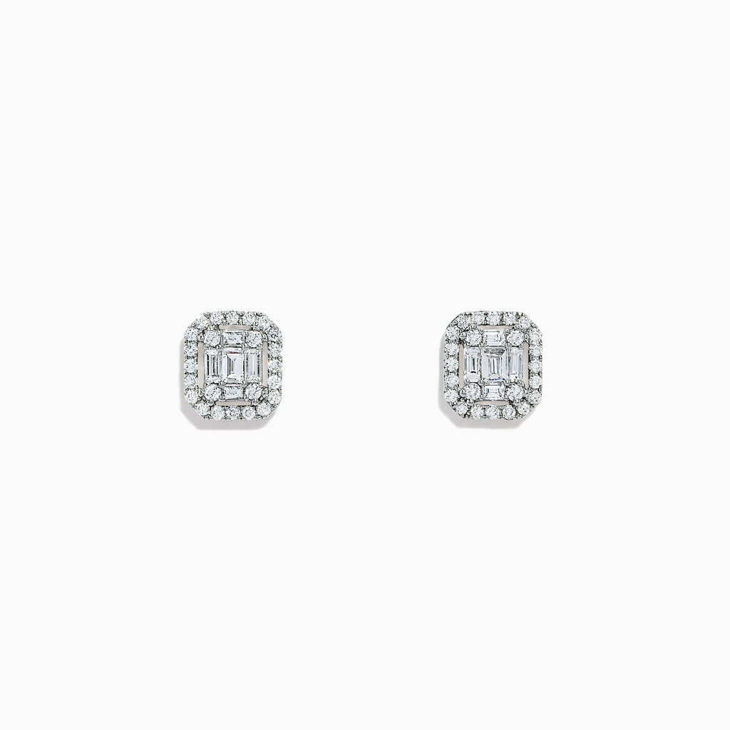 Effy Classique 14K White Gold Diamond Stud Earrings, 0.48 TCW
