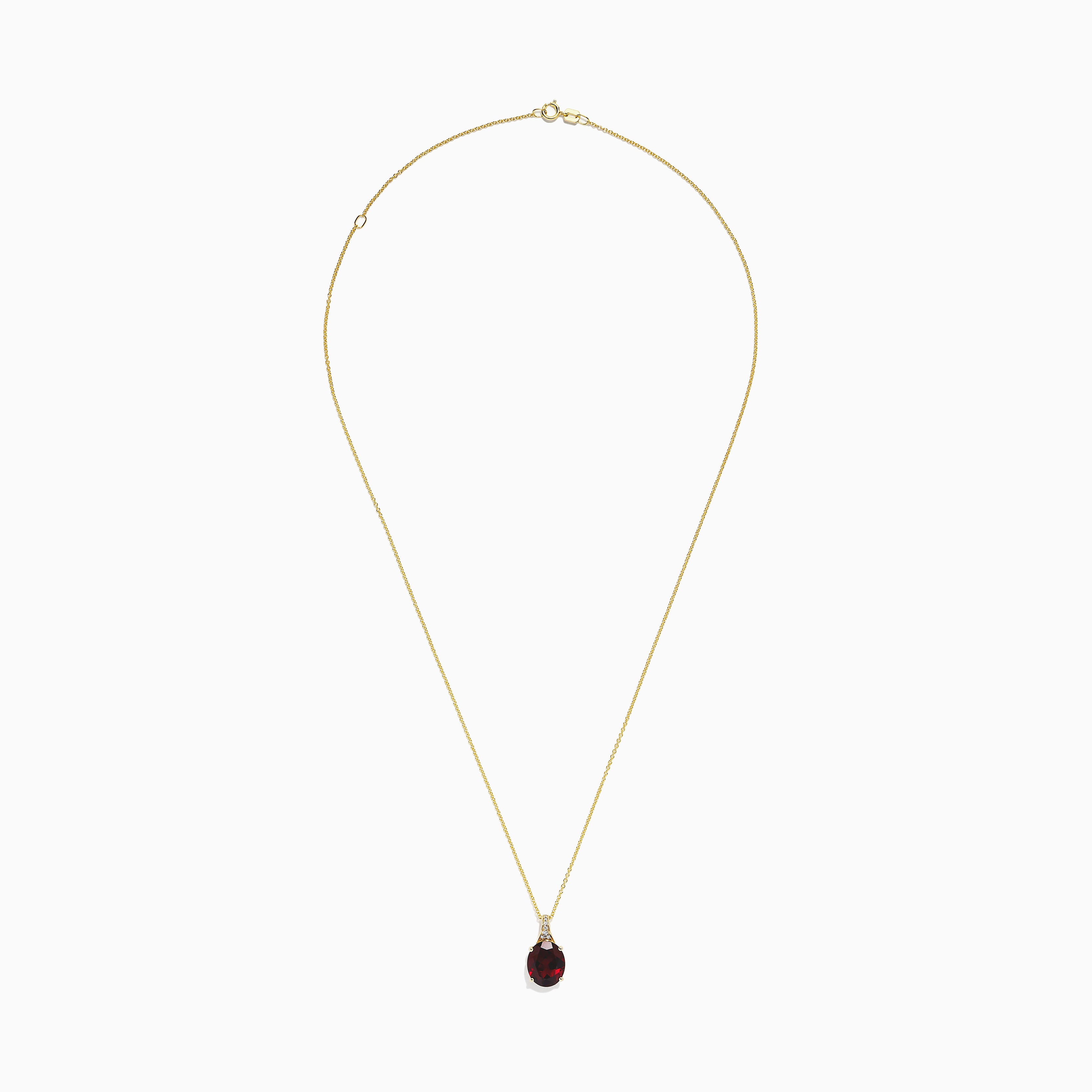 Effy Bordeaux 14K Yellow Gold Garnet and Diamond Pendant, 4.68 TCW