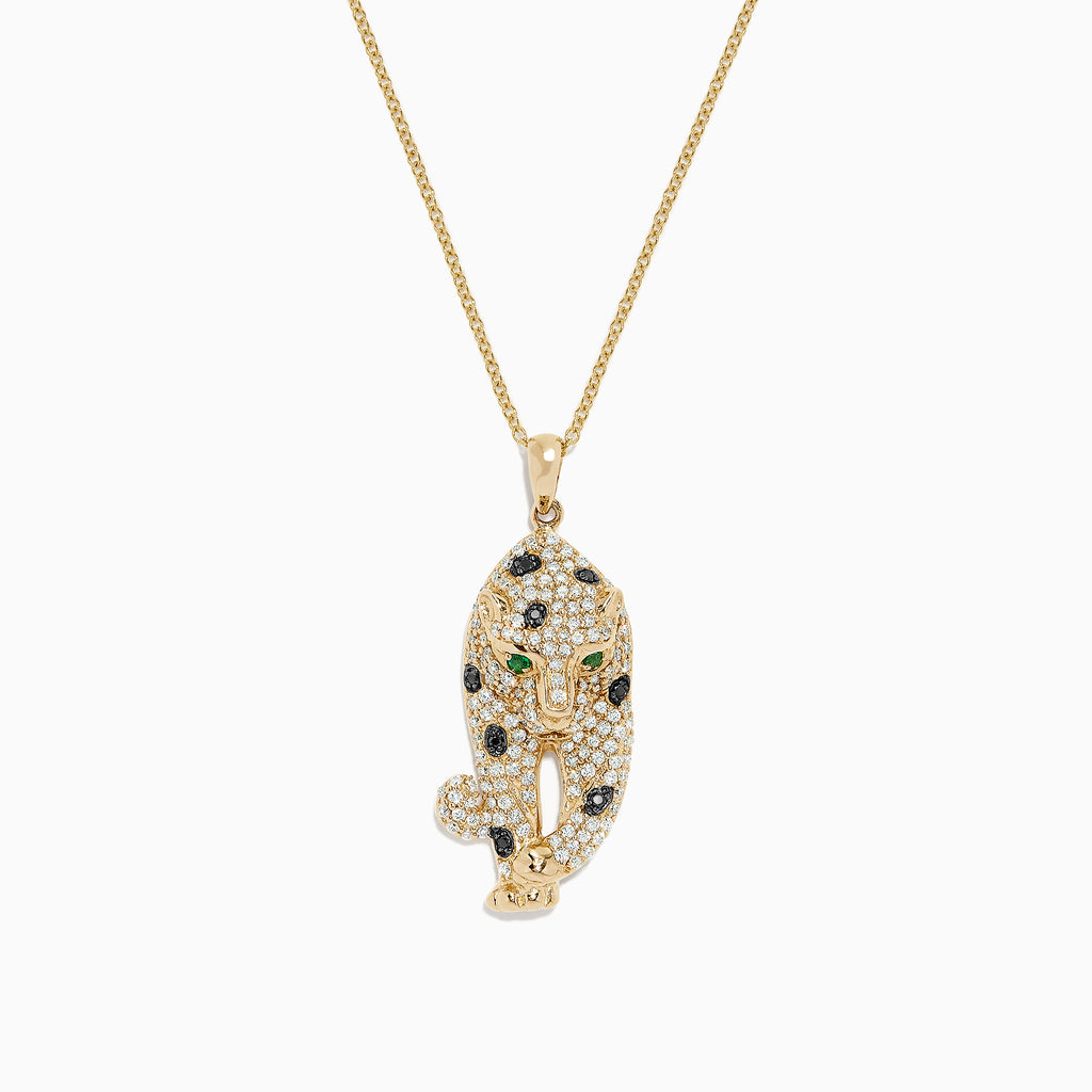 Effy Signature 14K Yellow Gold Diamond & Emerald Pendant, 0.79 TCW