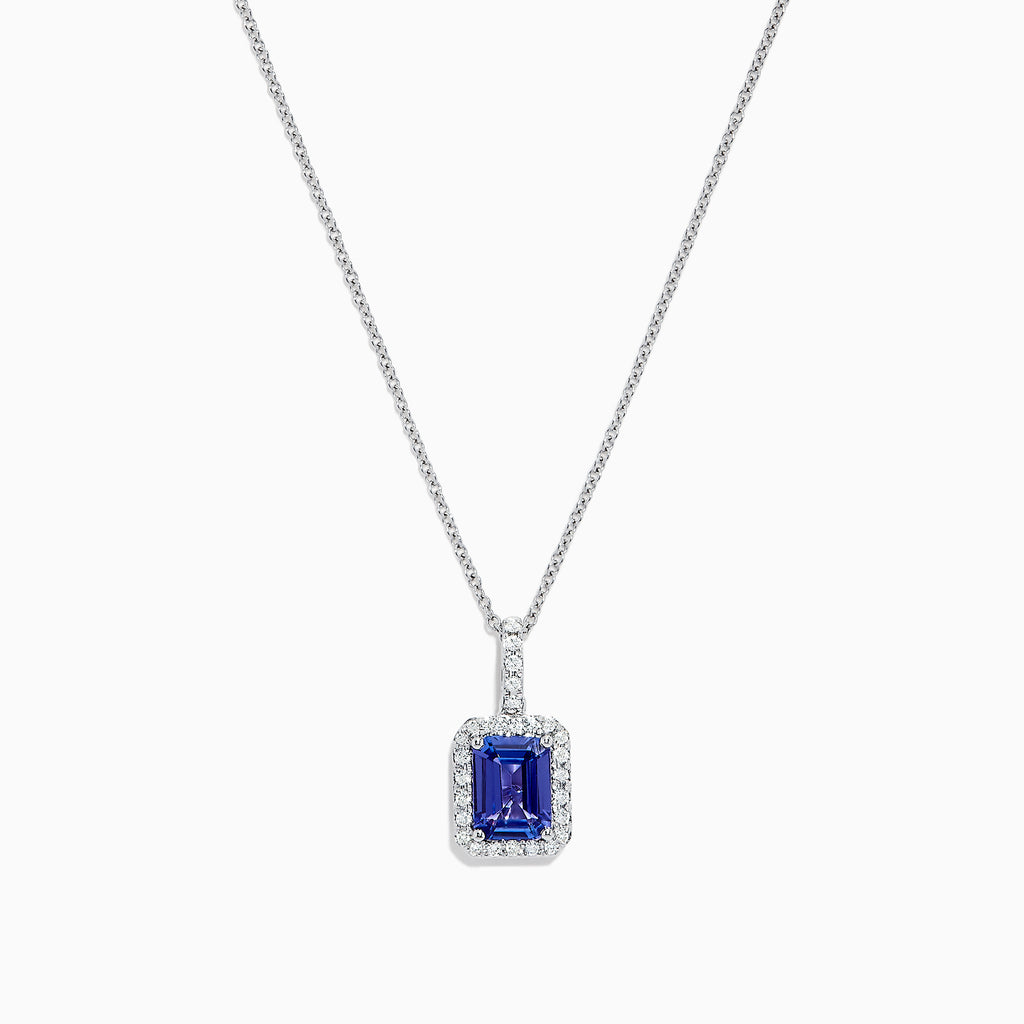 Effy Gemma 14K White Gold Tanzanite and Diamond Pendant, 1.56 TCW