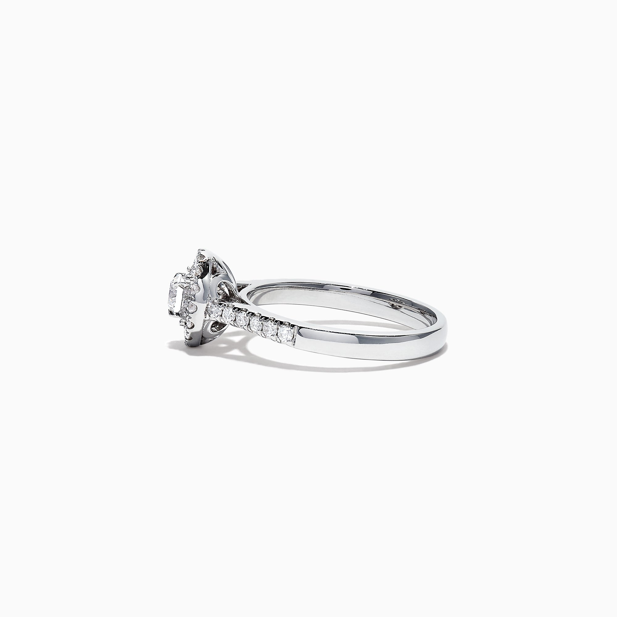 Effy Pave Classica 14K White Gold Diamond Halo Ring, 0.59 TCW