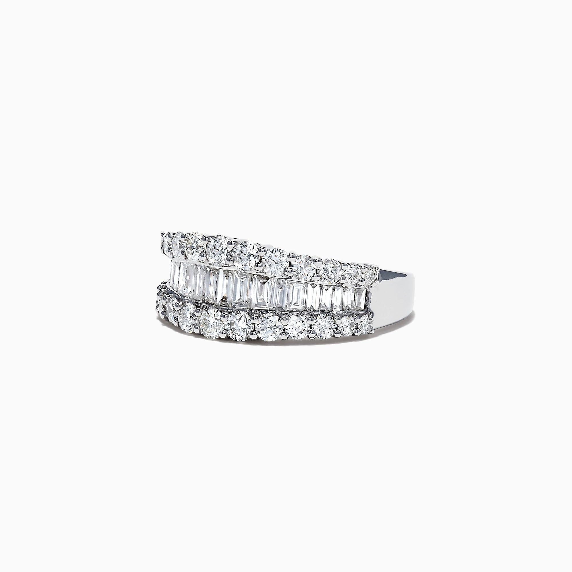 Effy Classique 14K White Gold Diamond Band Ring, 1.55 TCW