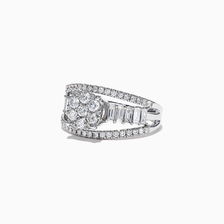 Effy Classique 14K White Gold Diamond Split Band Ring, 0.50 TCW