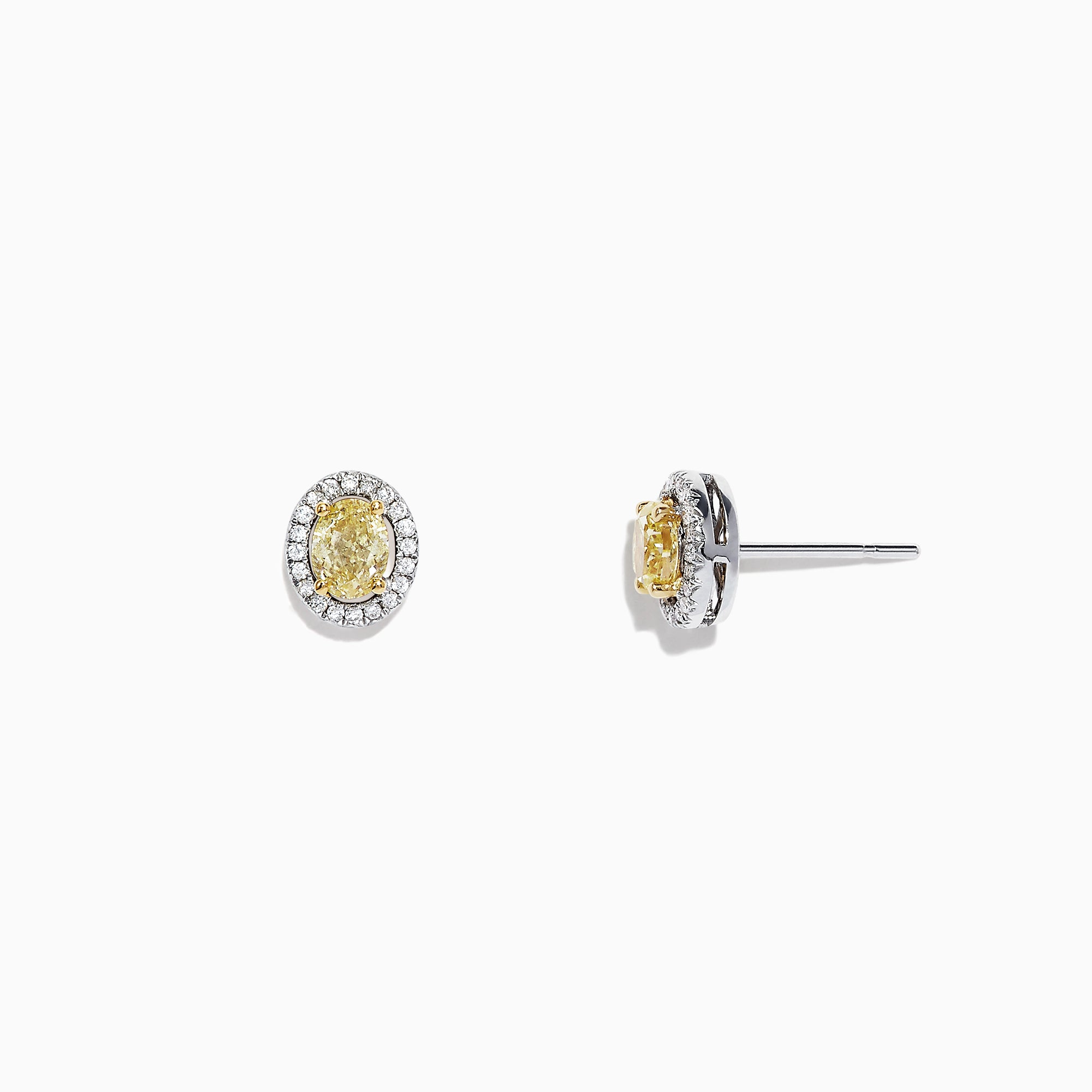 Effy Canare 18K Two-Tone Gold Yellow and White Diamond Earrings, 0.51 TCW