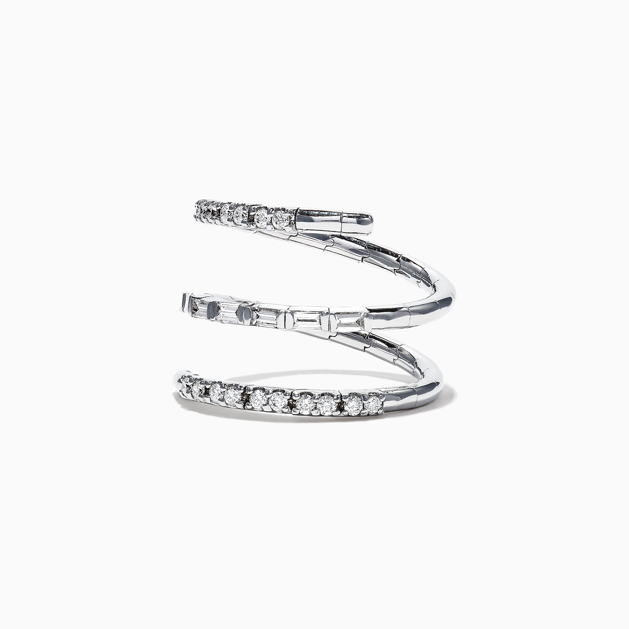 Effy Classique 14K White Gold Diamond Wrap Ring, 0.52 TCW