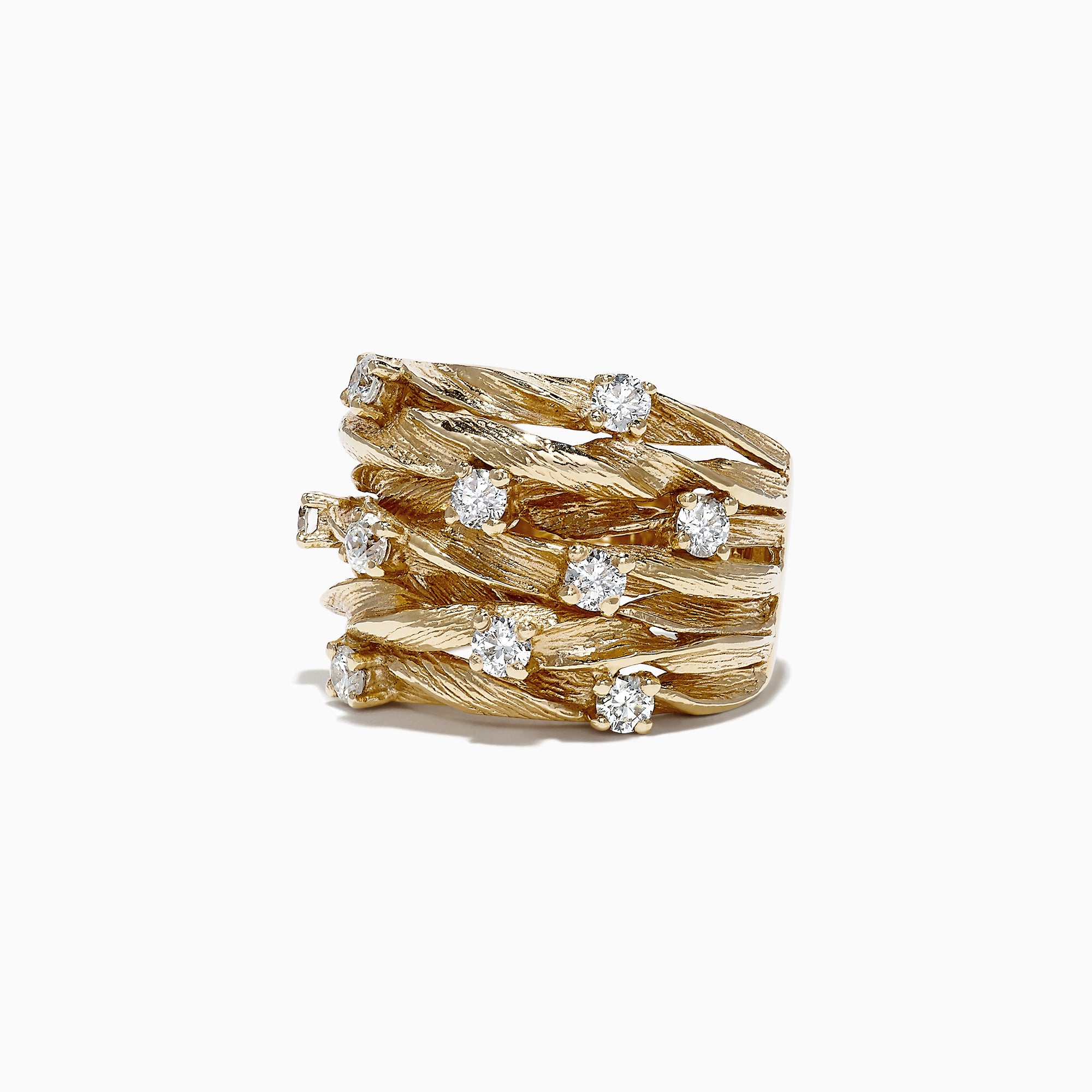 Effy D'Oro 14K Yellow Gold Diamond Ring, 0.98 TCW