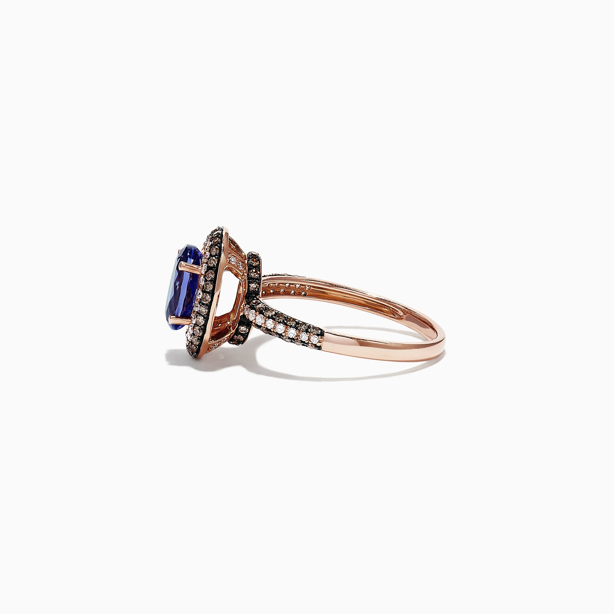 Effy 14K Rose Gold Oval Tanzanite and Diamond Ring, 1.69 TCW