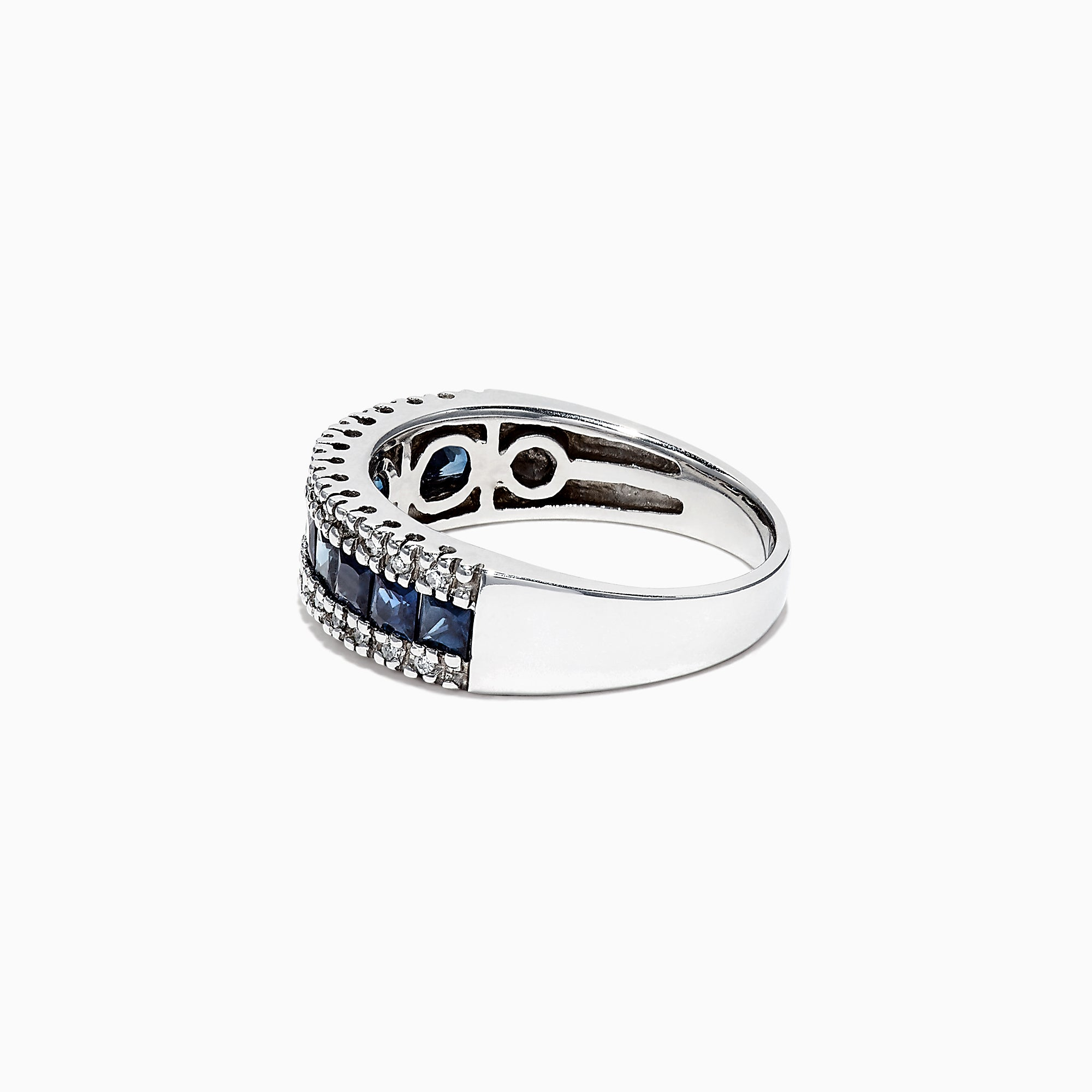 Effy Royale Bleu 14K White Gold Blue Sapphire and Diamond Ring, 1.46 TCW