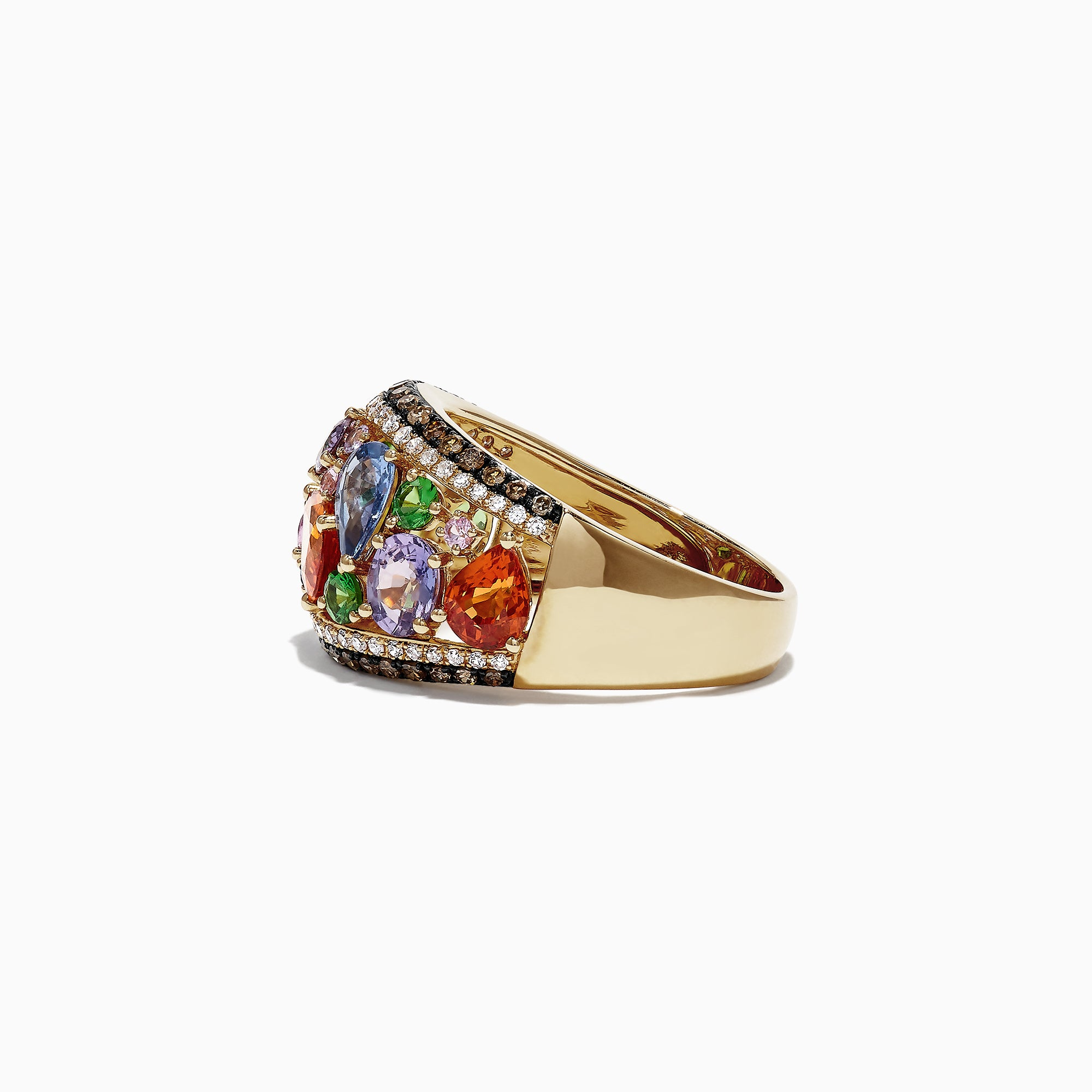 Effy Watercolors 14K Yellow Gold Multi Sapphire & Diamond Ring, 4.00 TCW