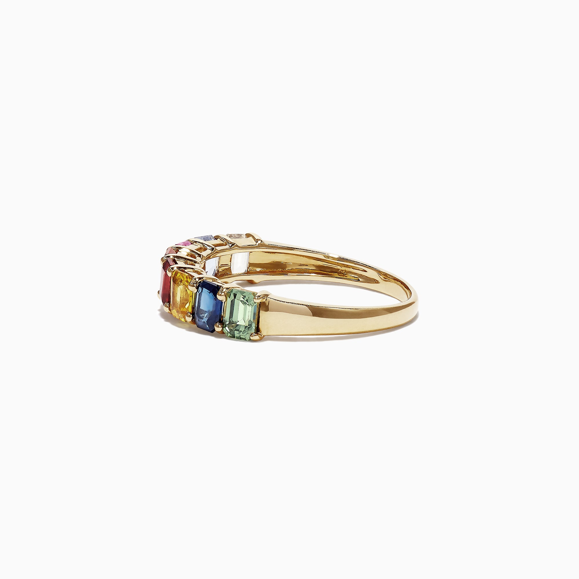 Effy Watercolors 14K Yellow Gold Multi-Sapphire Band Ring, 2.06 TCW