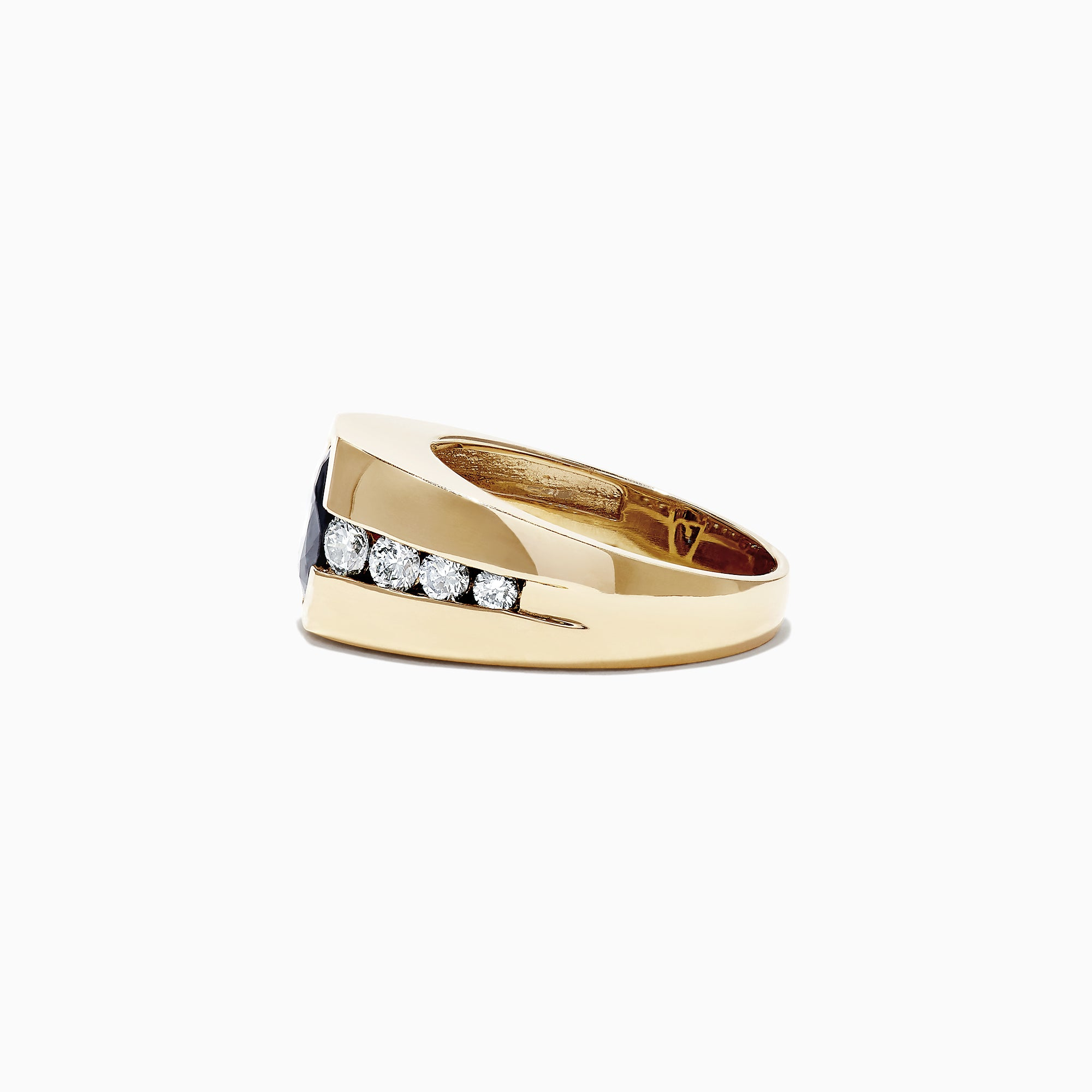 Effy Men's 14K Yellow Gold Sapphire and Diamond Ring, 3.87 TCW