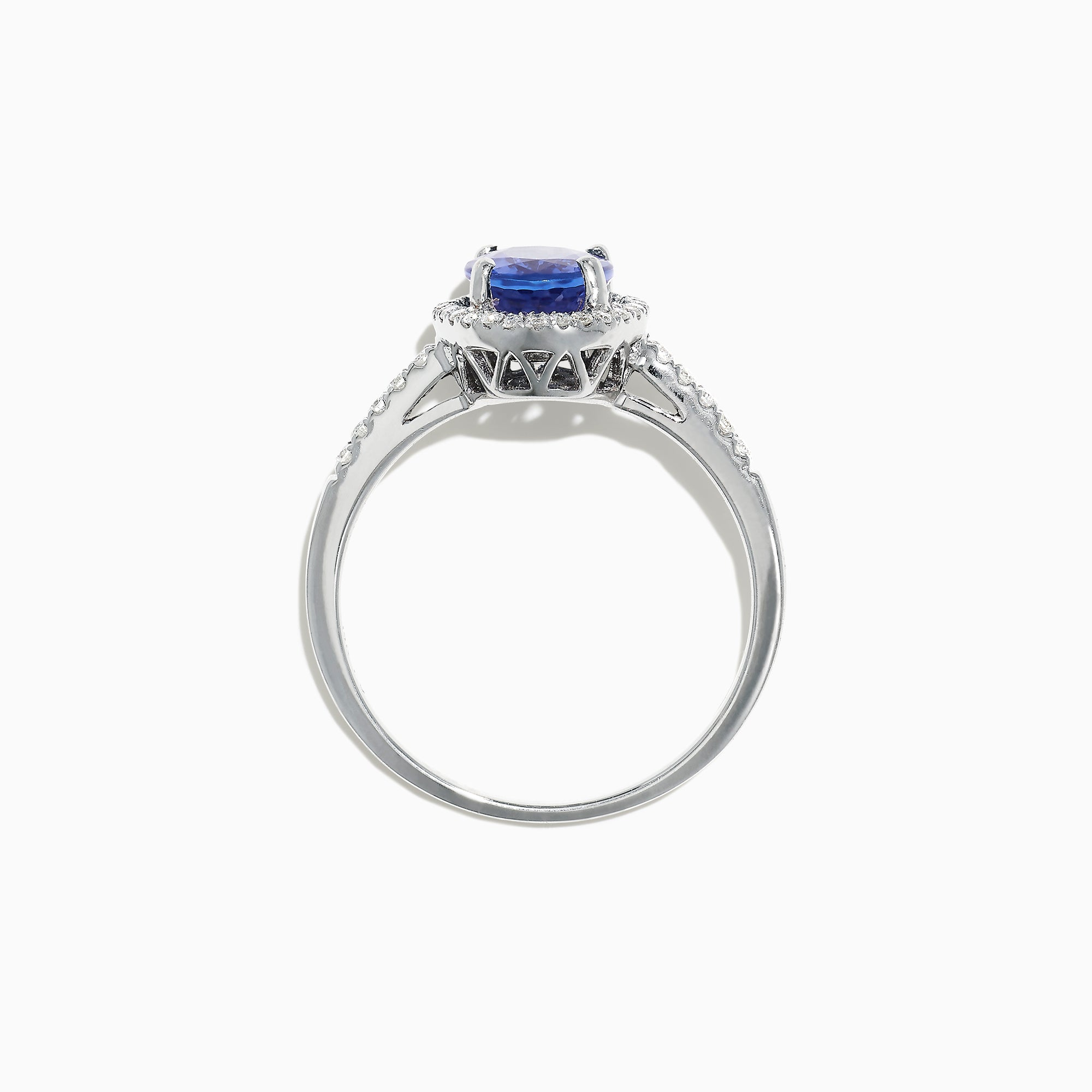 Effy 14K White Gold Tanzanite and Diamond Ring, 2.24 TCW