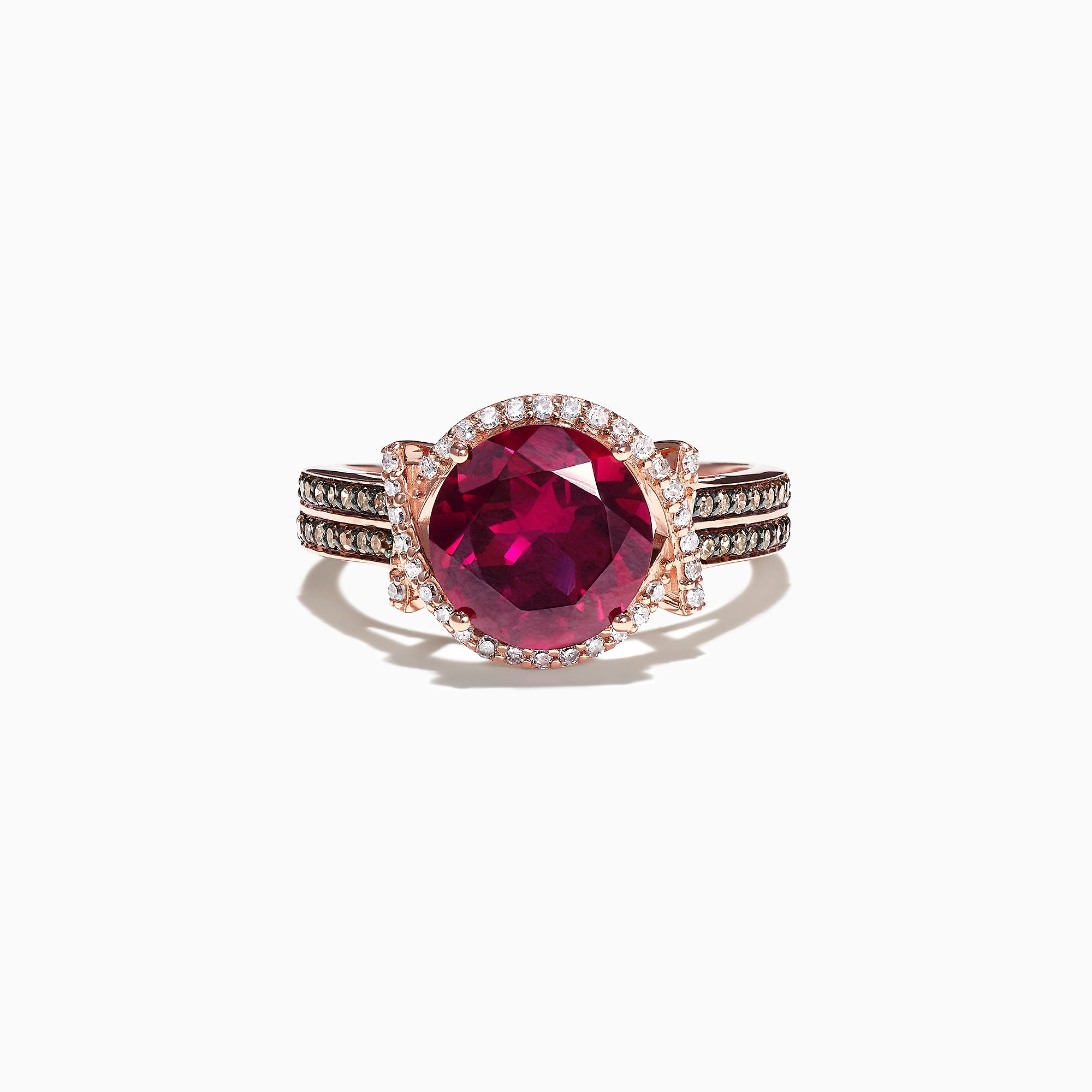 Effy 14K Rose Gold Rhodolite Garnet and Diamond Ring, 2.51 TCW