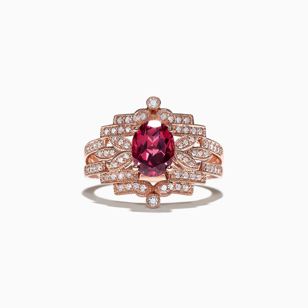 Effy Bordeaux 14K Rose Gold Garnet and Diamond Ring, 1.77 TCW