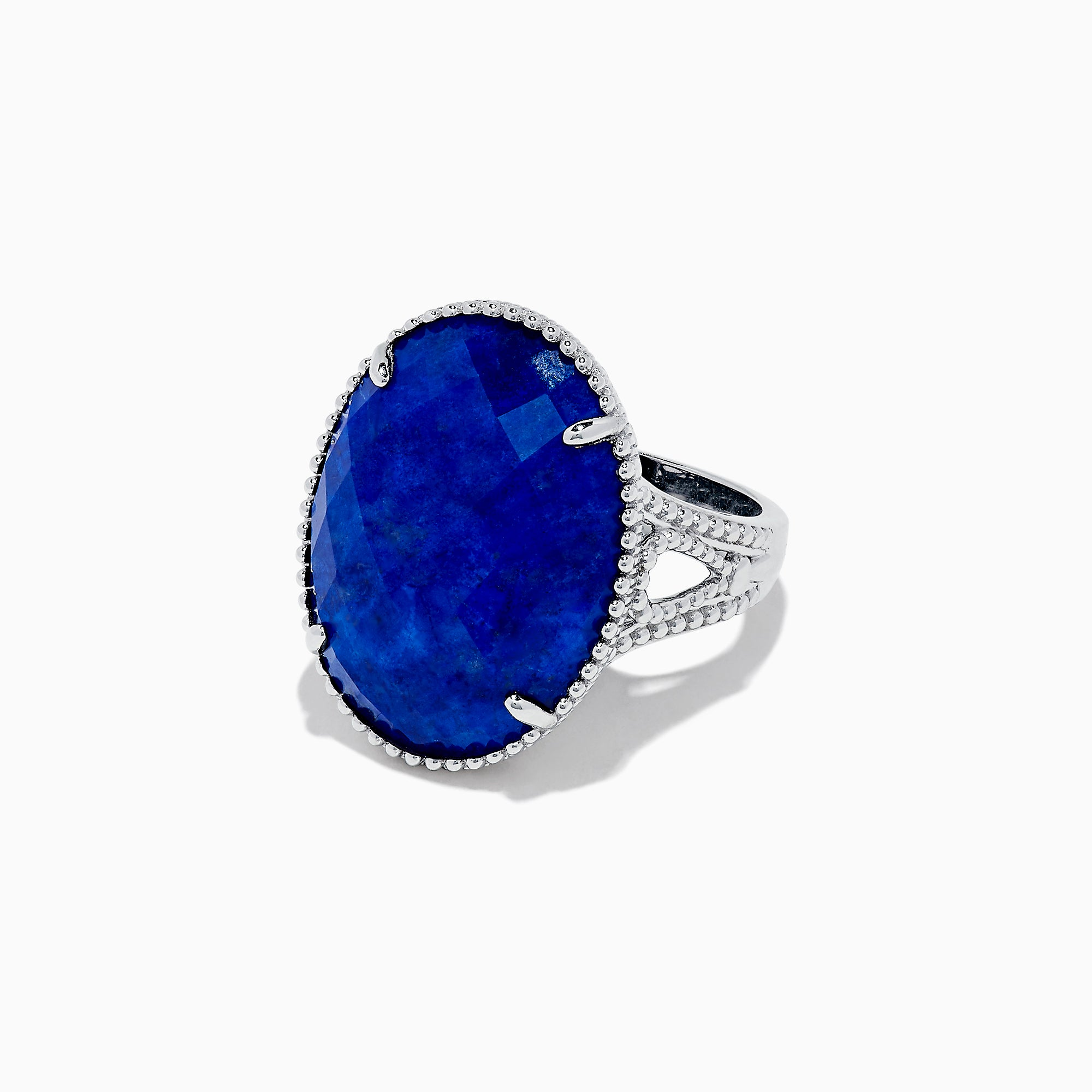 Effy 925 Sterling Silver Lapis Lazuli Cocktail Ring, 13.85 TCW