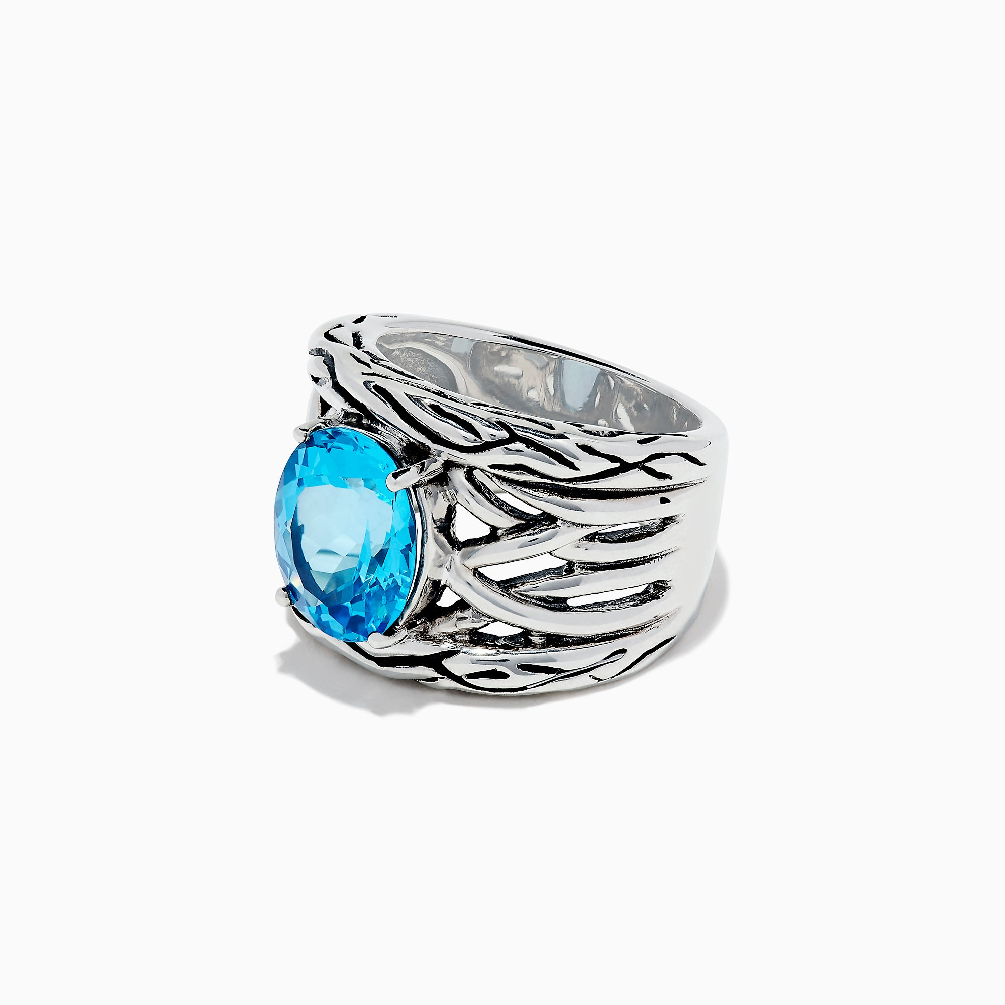 Effy 925 Lagoon Sterling Silver Blue Topaz Ring, 5.70 TCW