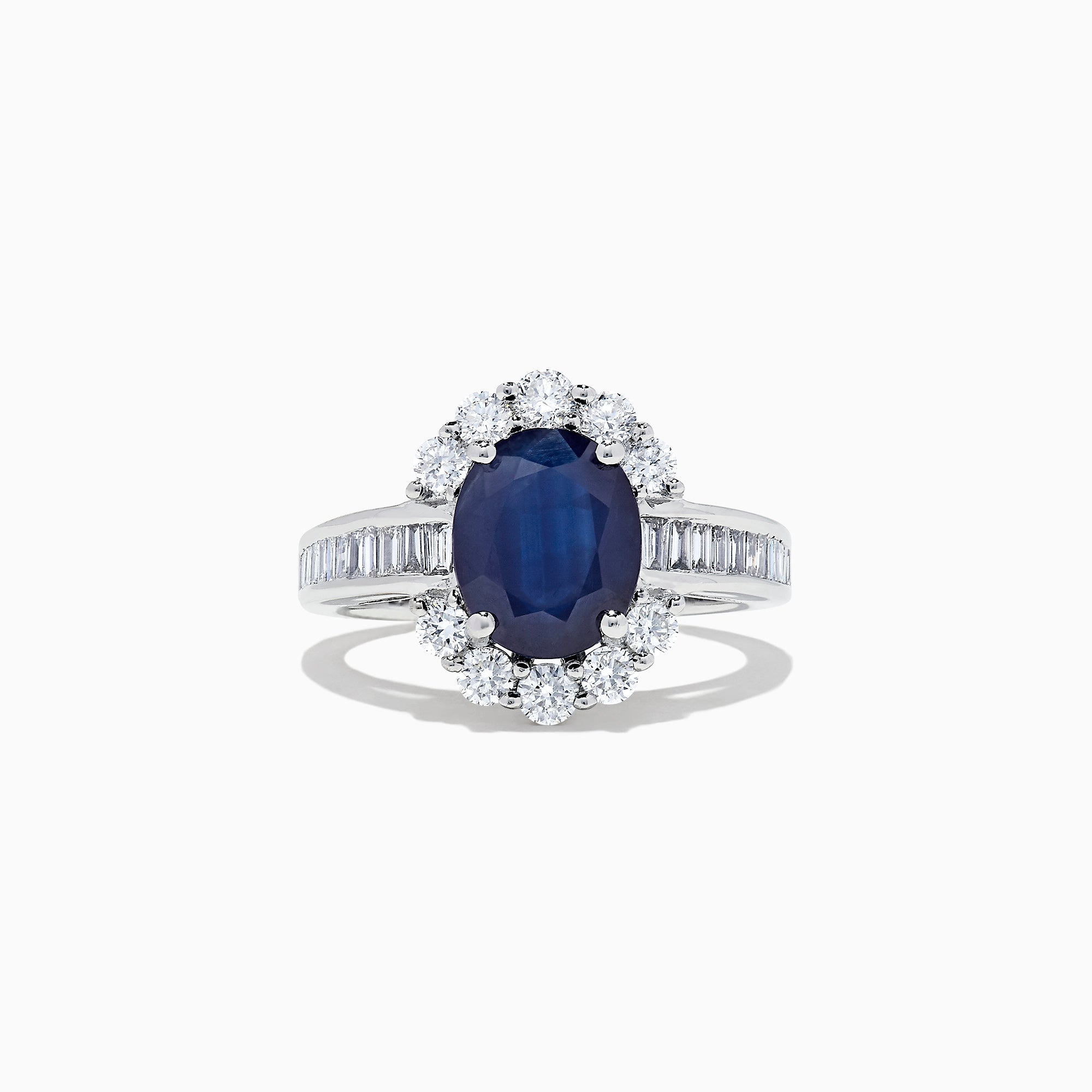 Effy Royale Bleu 14K White Gold Sapphire and Diamond Ring, 4.03 TCW TCW