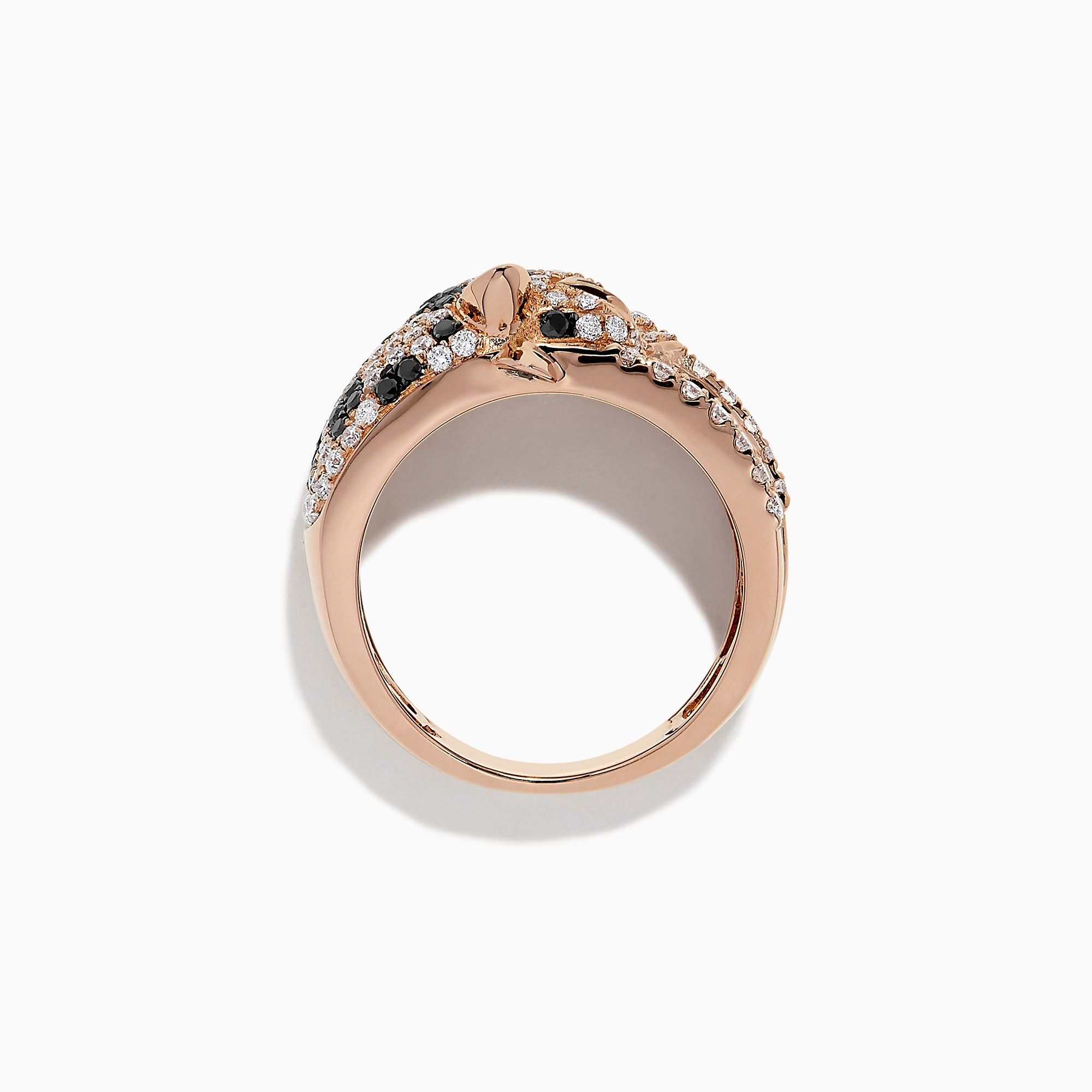 Effy Signature 14K Rose Gold Diamond Panther Ring, 1.54 TCW