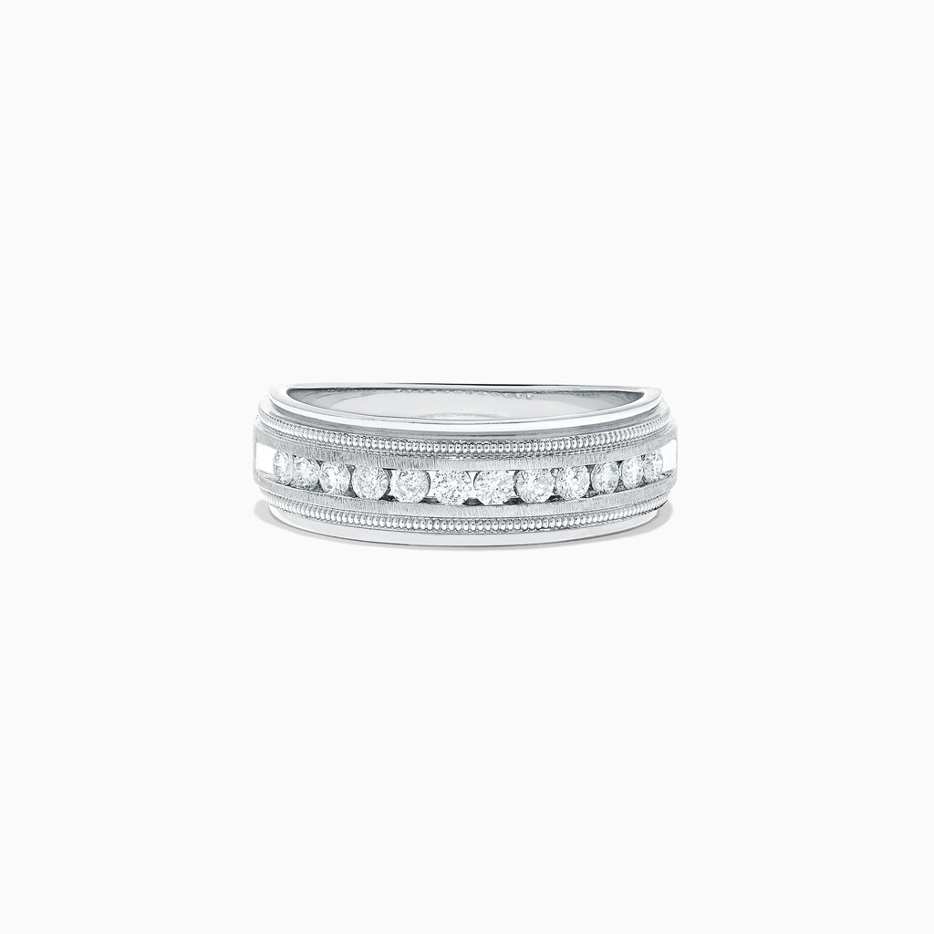 Effy Men's 14K White Gold Diamond Ring, 0.47 TCW