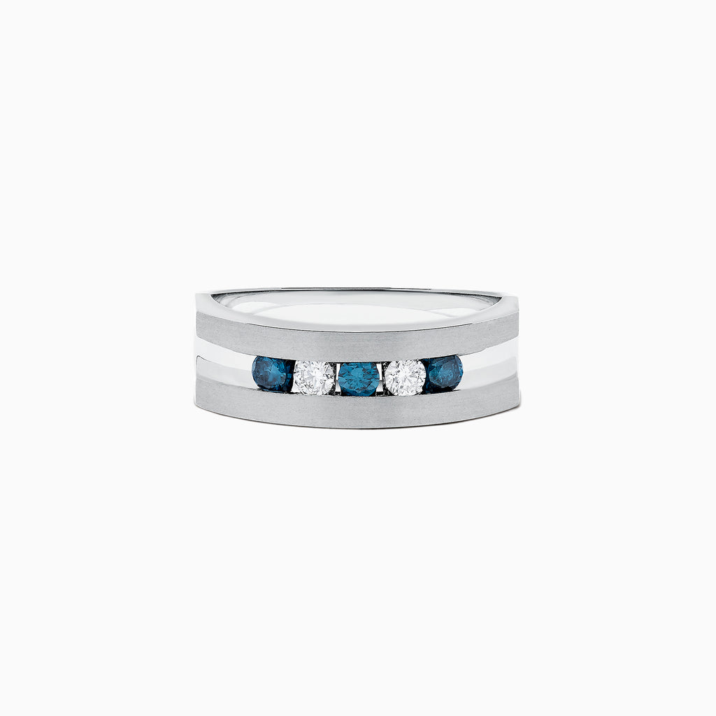 Effy Men's Men's Blue and White Diamond Ring, .49 TCW