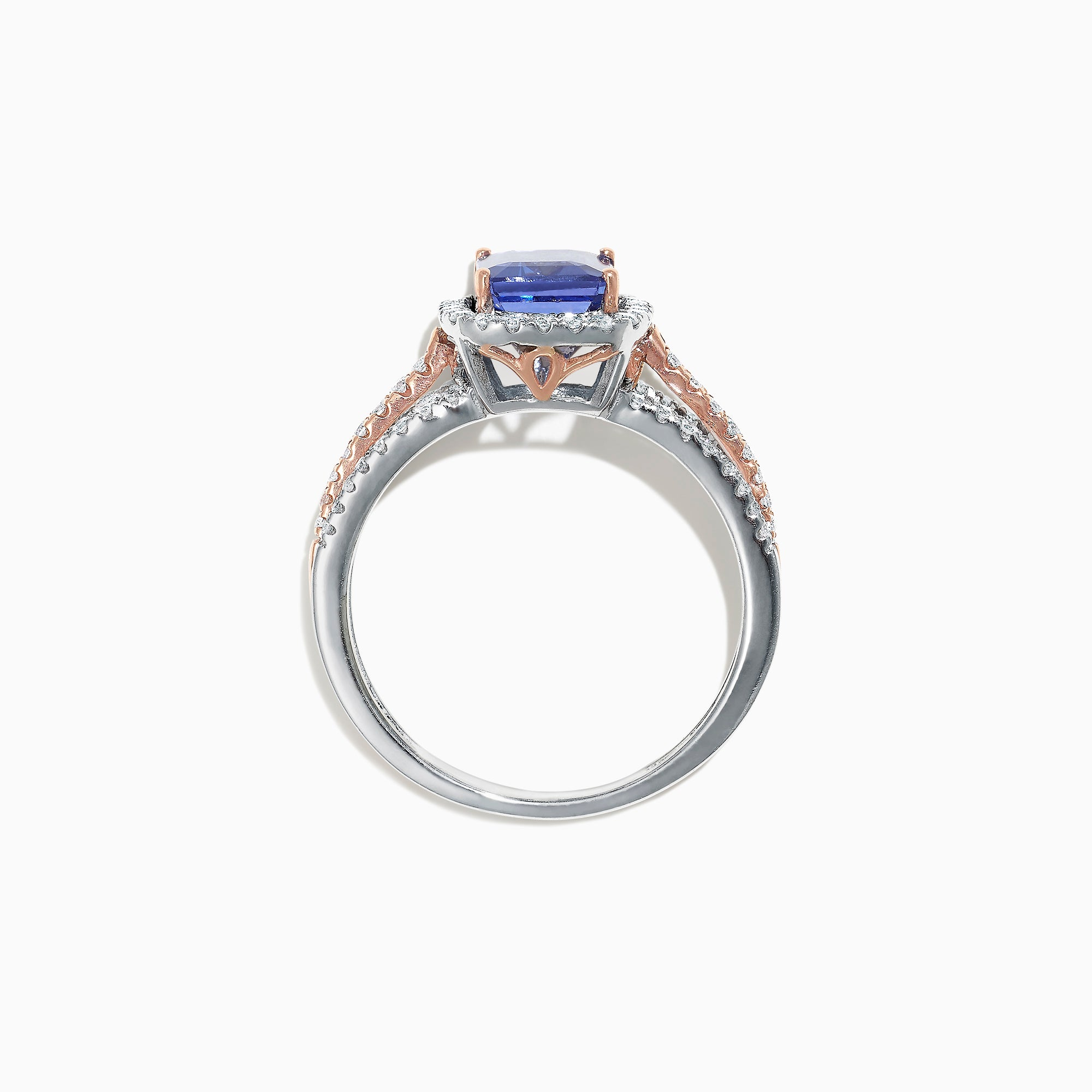 Effy Gemma 14K White and Rose Gold Tanzanite and Diamond Ring, 1.80 TCW