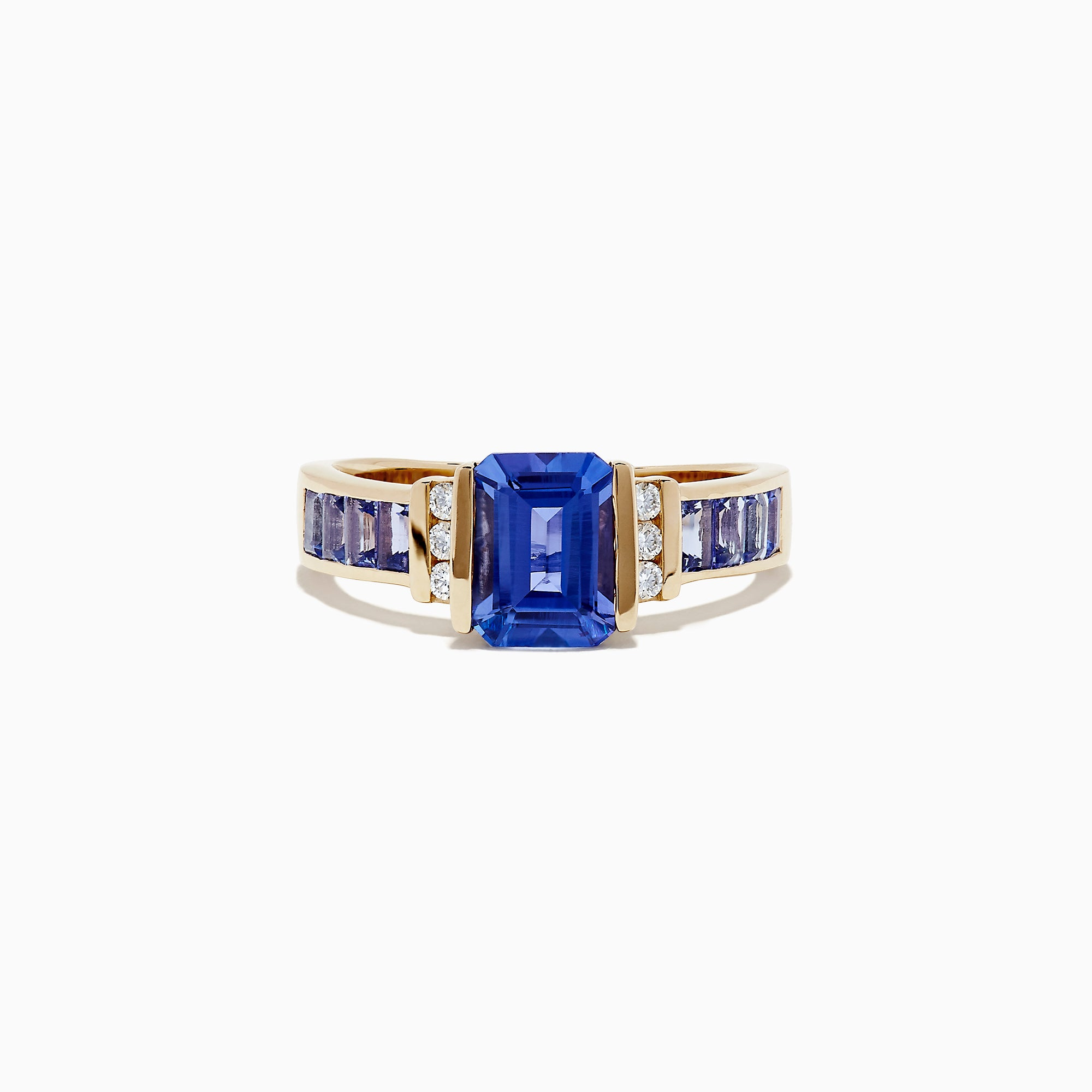 Effy Tanzanite Royale 14K Yellow Gold Tanzanite and Diamond Ring, 2.19 TCW