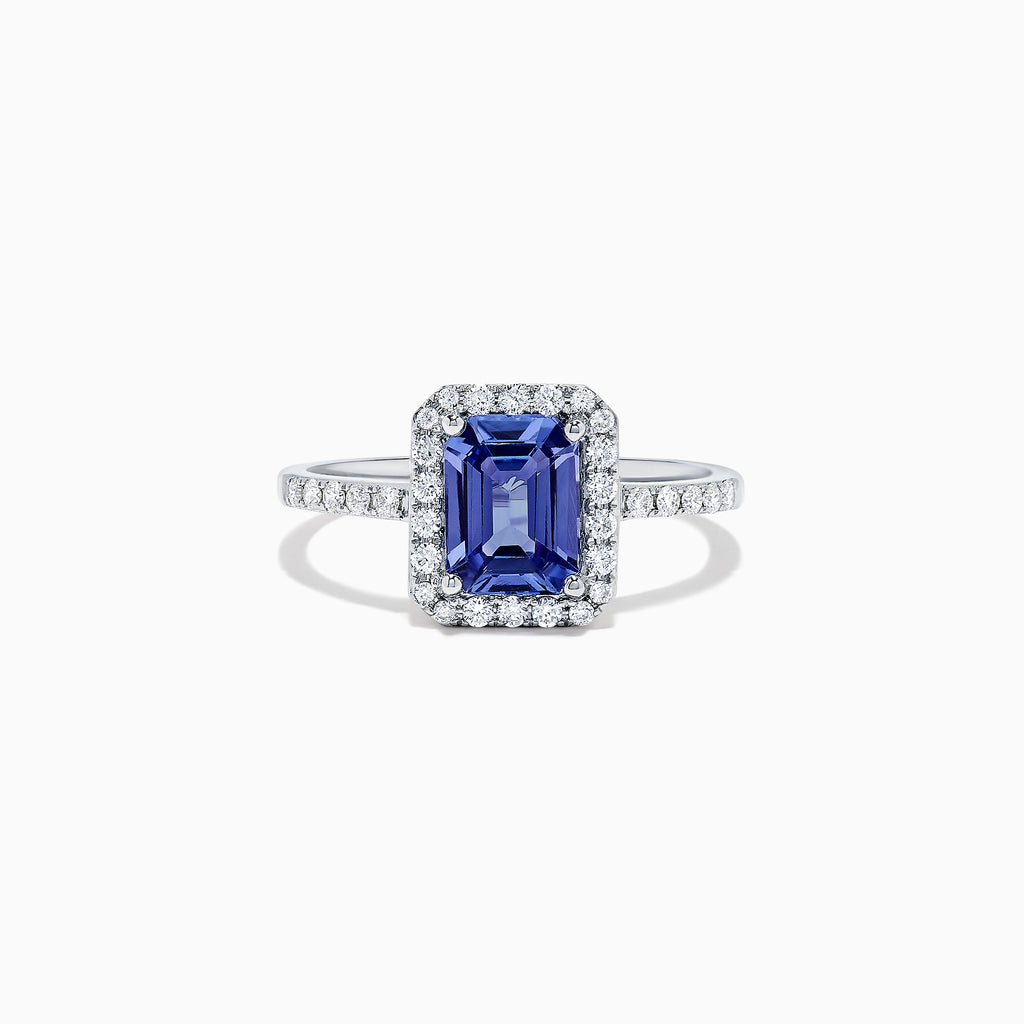 Effy Gemma 14K White Gold Tanzanite and Diamond Ring, 1.60 TCW