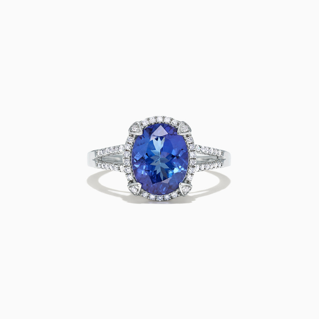 Effy Gemma 14K White Gold Tanzanite and Diamond Ring, 3.09 TCW
