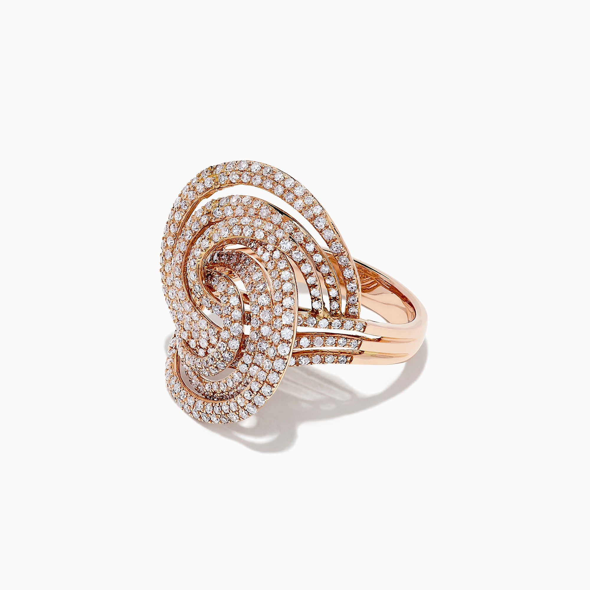 Effy 14K Rose Gold Diamond Swirl Ring, 1.25 TCW