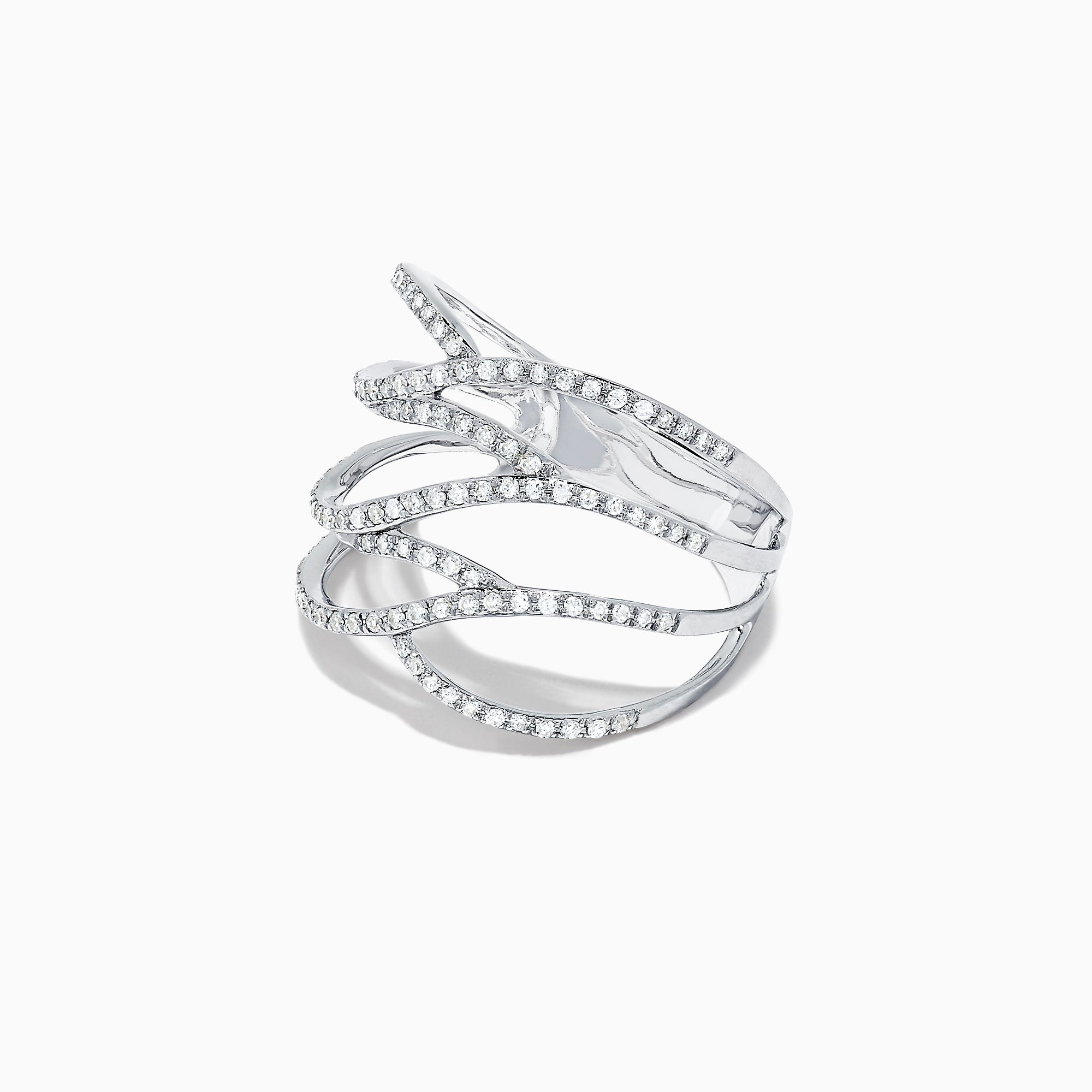 Effy Pave Classica 14K White Gold Diamond Fashion Ring, 0.43 TCW
