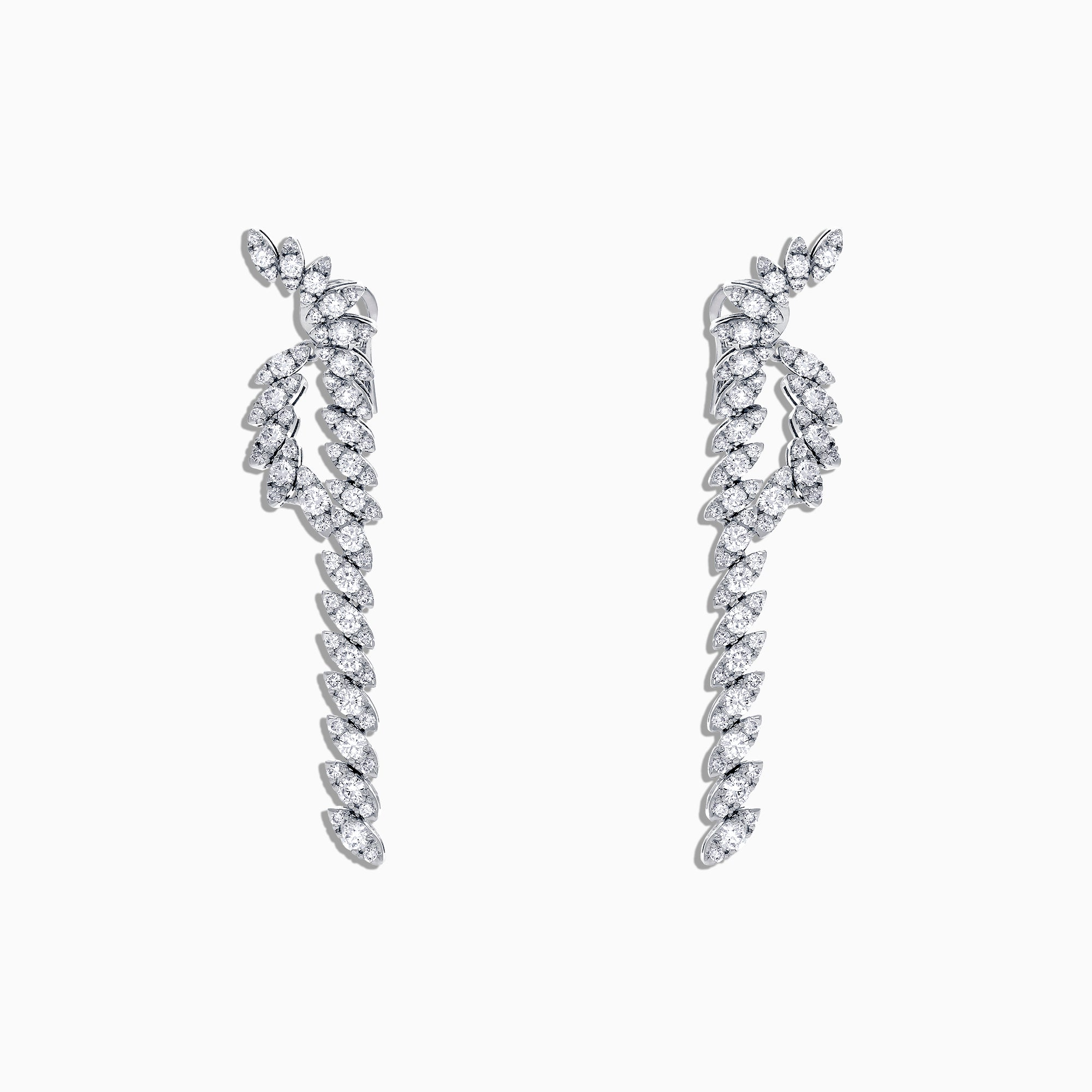 Effy Hematian 18K White Gold Diamond Earrings, 5.88 TCW