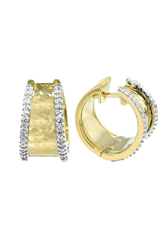 Moderna Diamond Hoop Earrings, 0.40 TCW