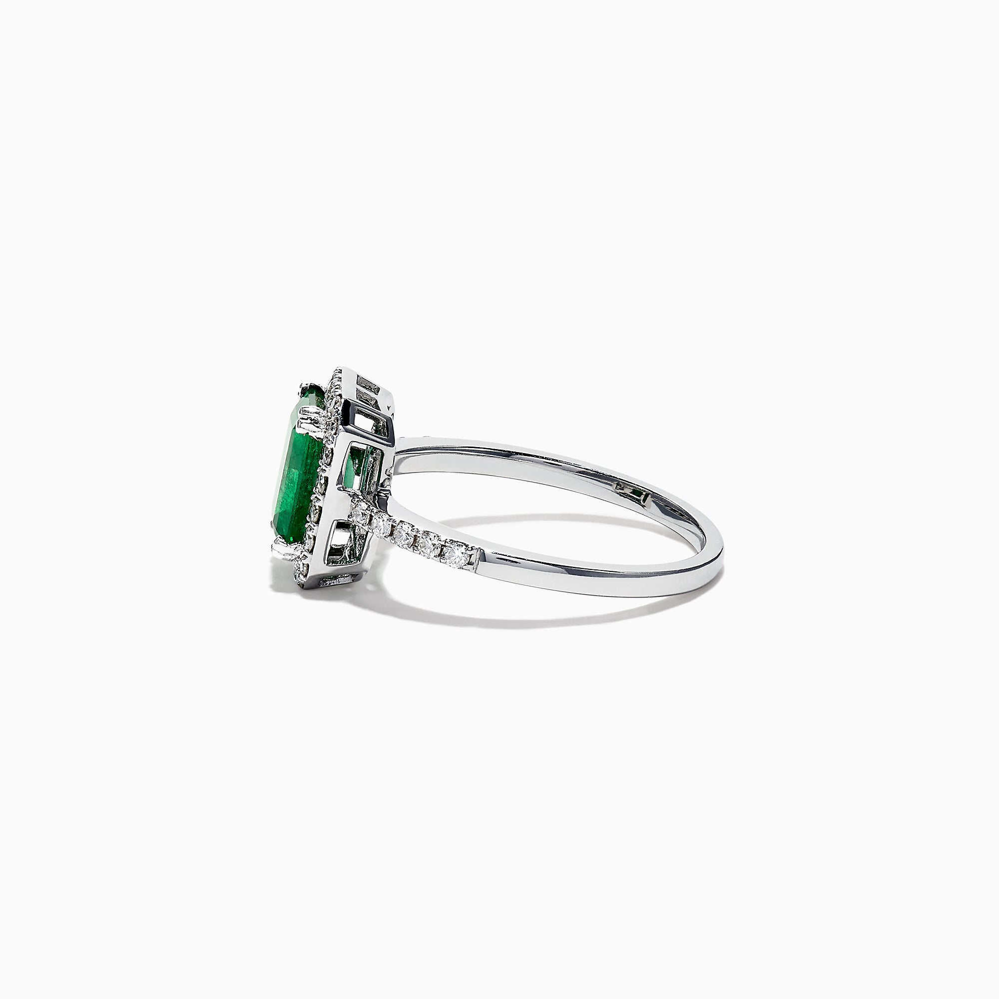 Effy Brasilica 14K White Gold Emerald and Diamond Ring, 1
