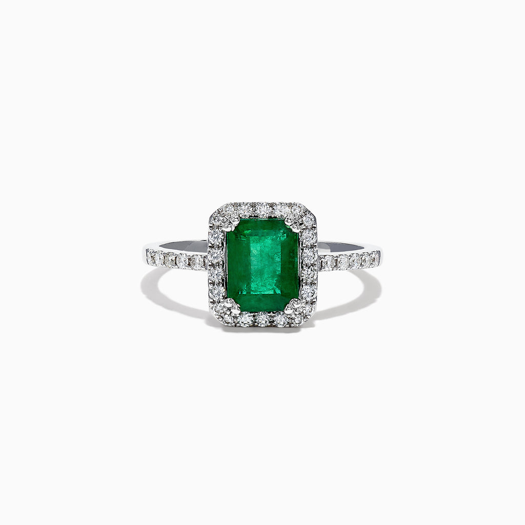 Effy Brasilica 14K White Gold Emerald and Diamond Ring, 1.69 TCW