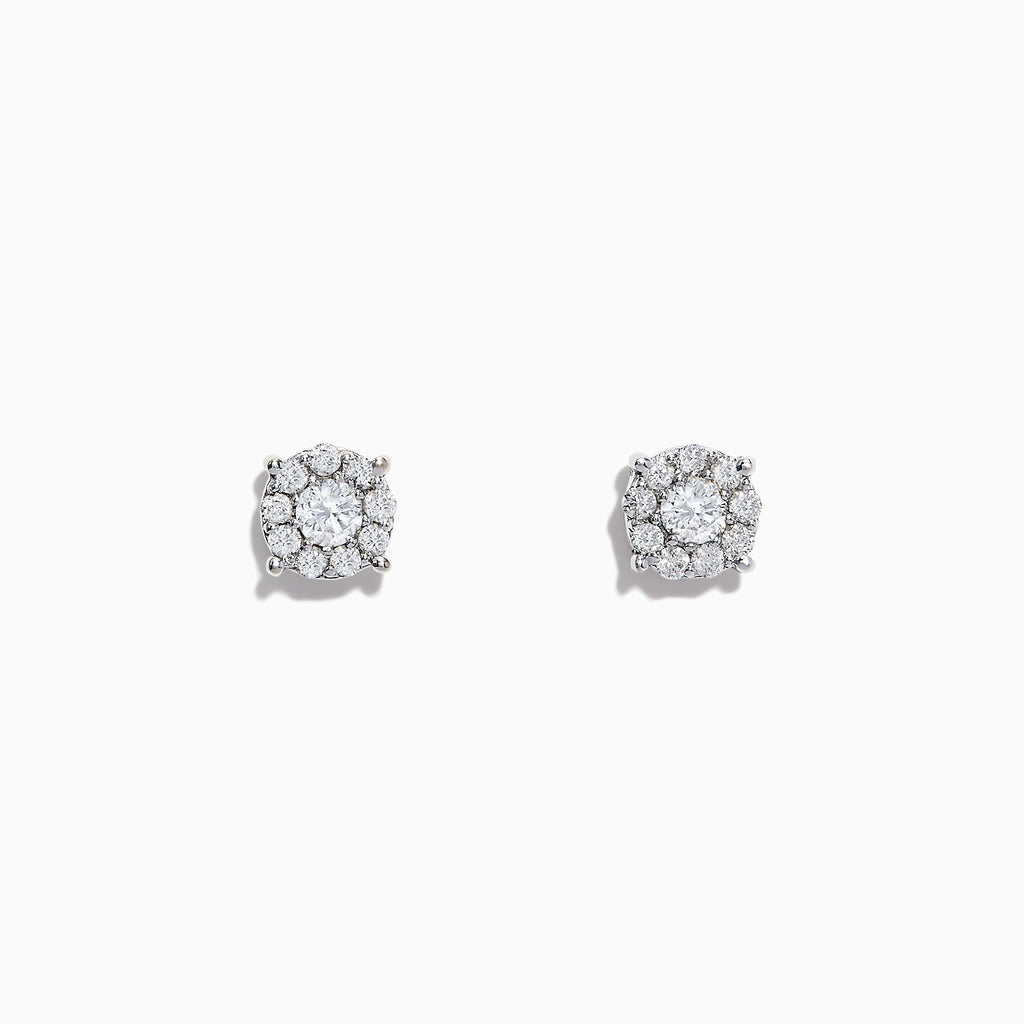 Effy Bouquet 14K White Gold Diamond Cluster Stud Earrings, 0.50 TCW
