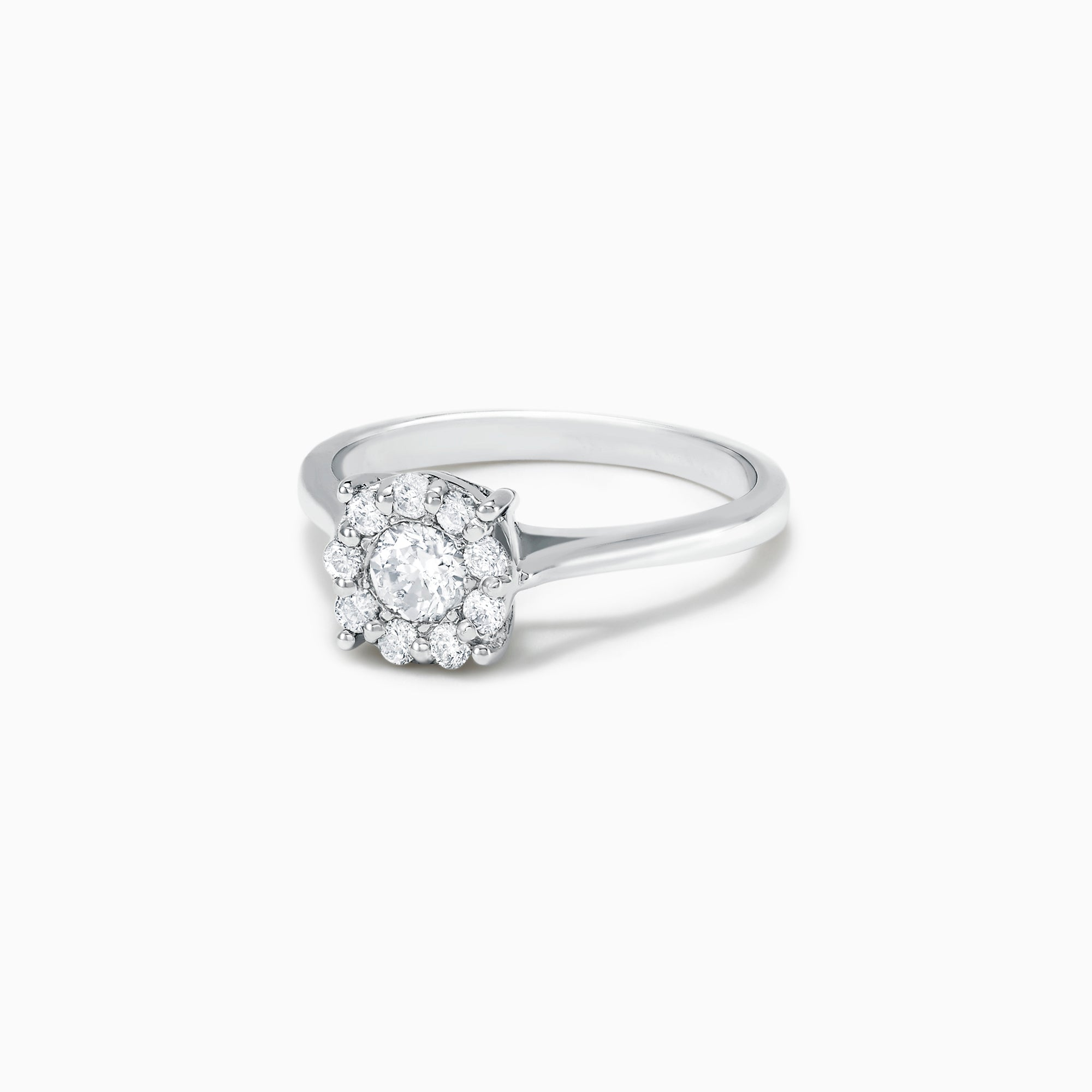 Effy Bouquet 14K White Gold Diamond Cluster Ring, 0.47 TCW